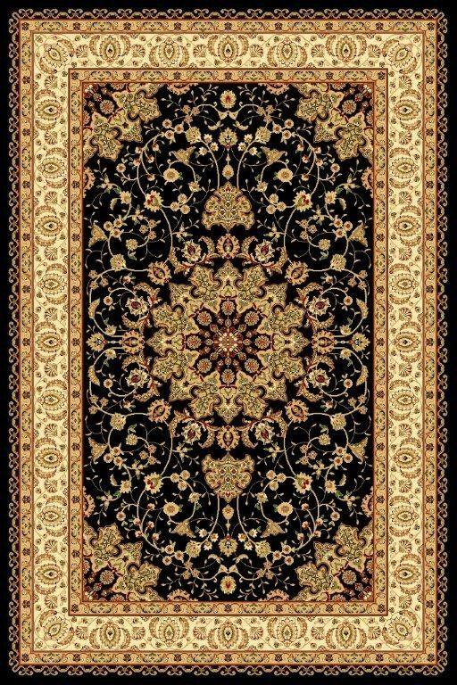 Gwinn Oriental Black Area Rug Rug Size: Rectangle 7'10