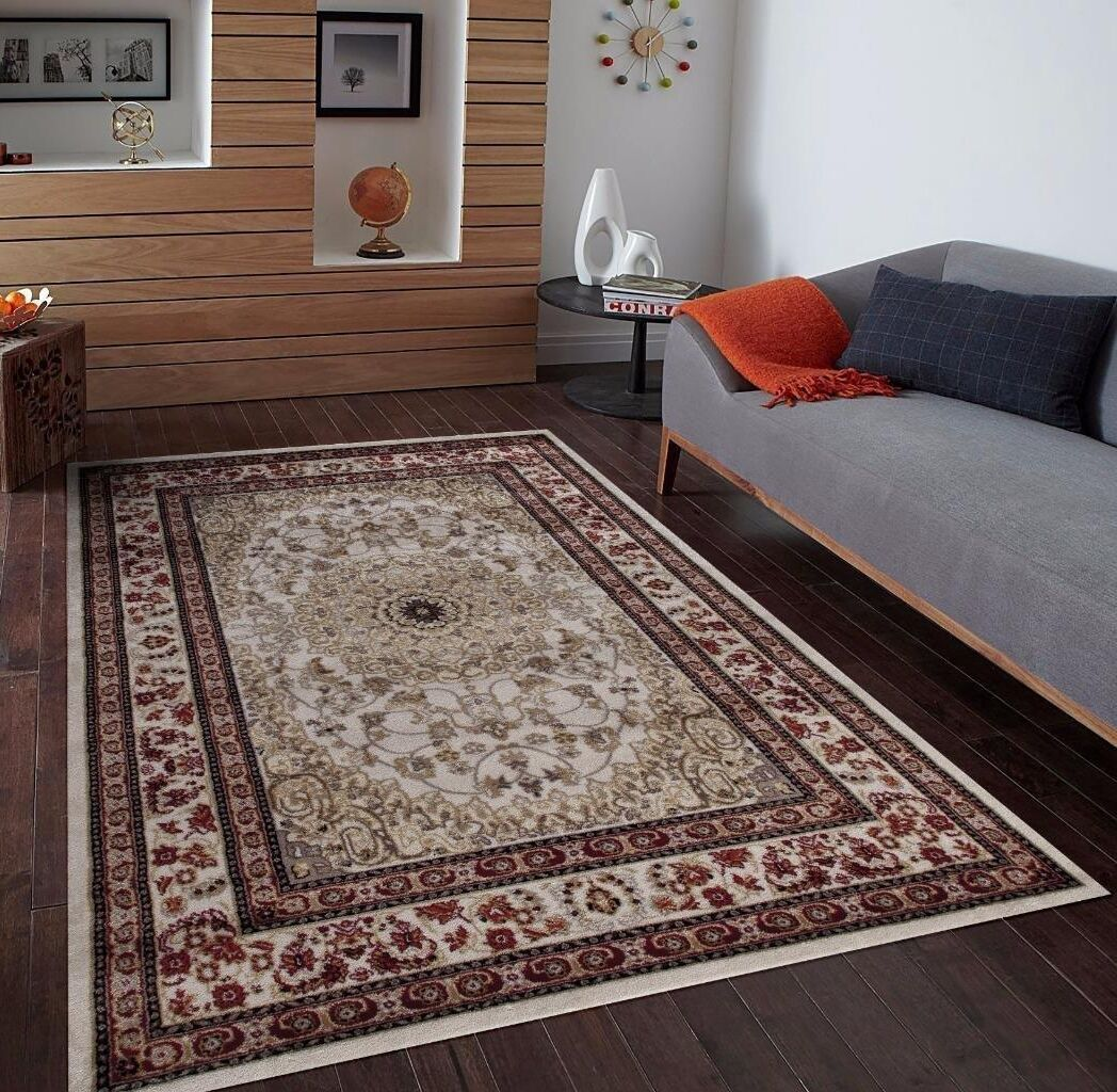 Gwinn Ivory/Brown Indoor/Outdoor Area Rug Rug Size: 8' x 10'