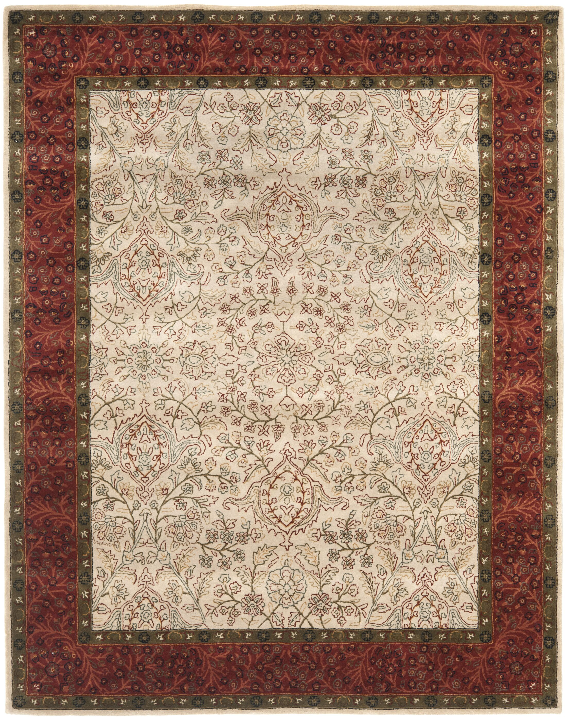 Griswold Hand-Tufted Ivory / Rust Area Rug Rug Size: Rectangle 8'3