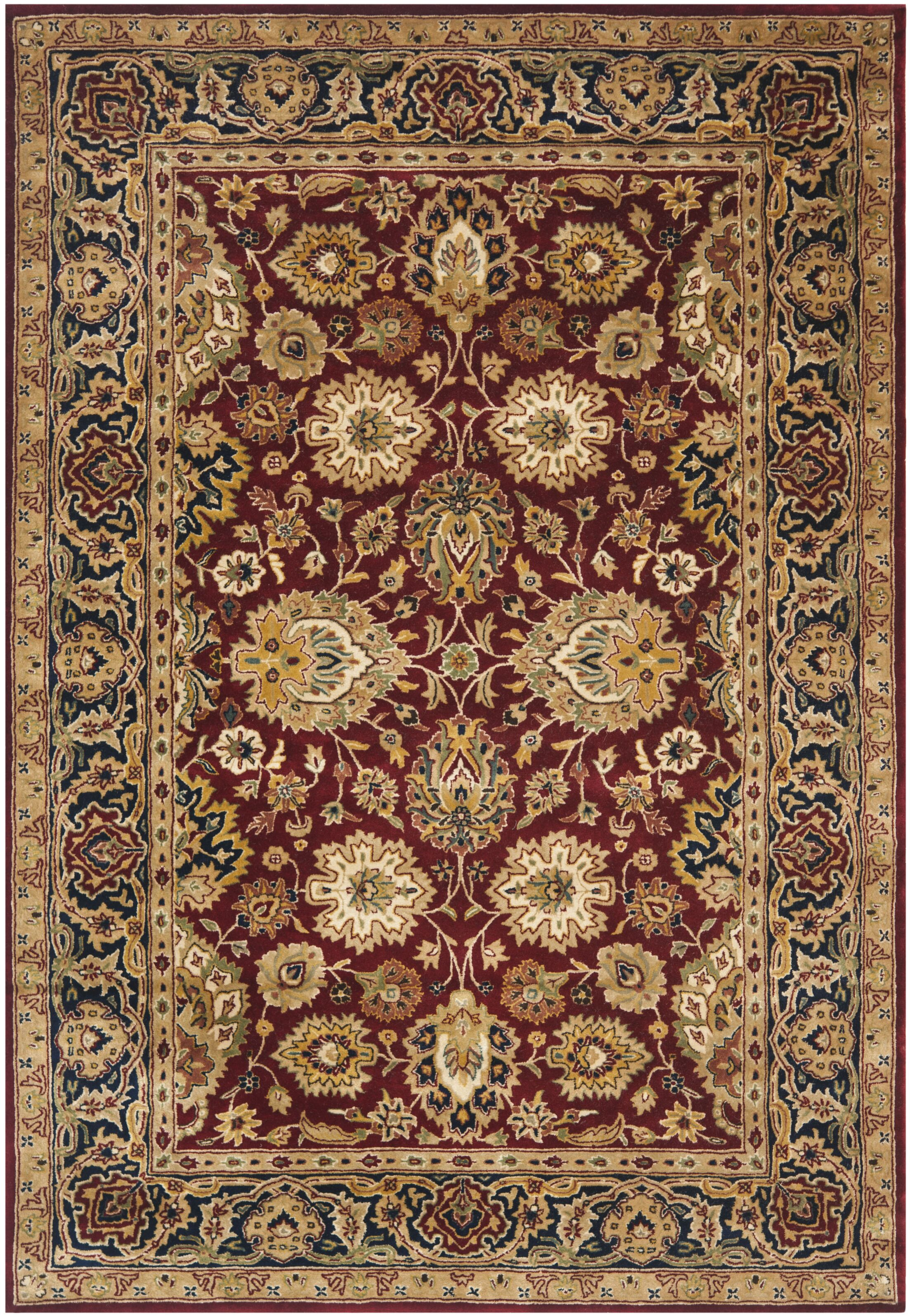 Empress Rust/Black Area Rug Rug Size: Rectangle 6' x 9'