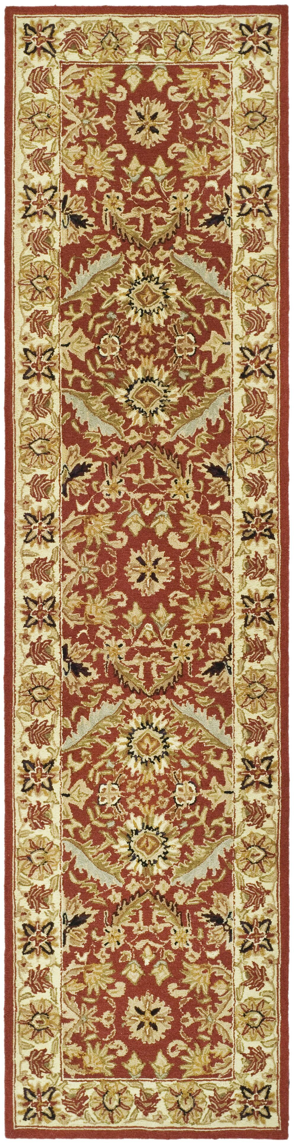 Weaver Red / Ivory Area Rug Rug Size: Runner 2'6
