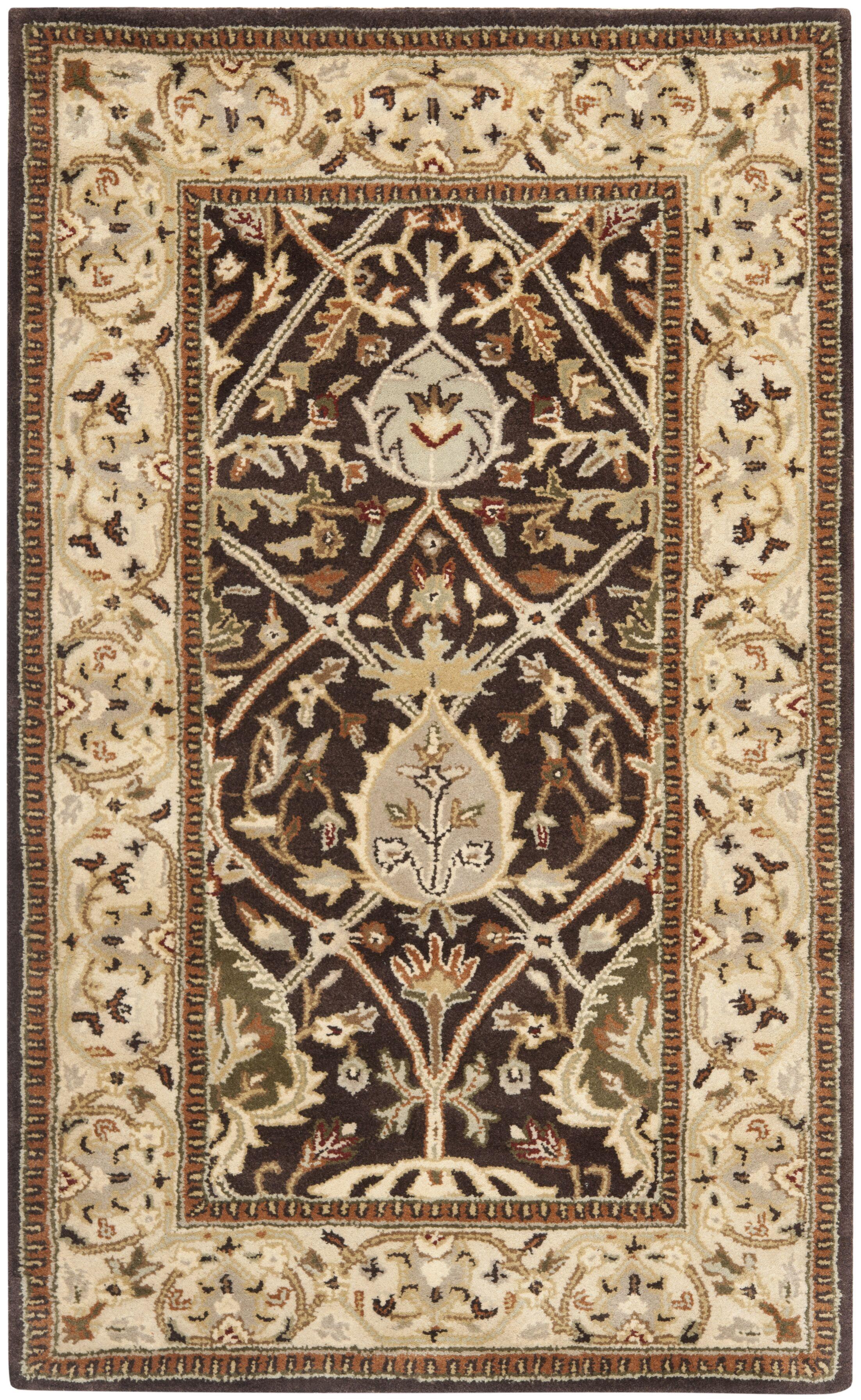 Empress Brown/Beige Area Rug Rug Size: Rectangle 2' x 3'