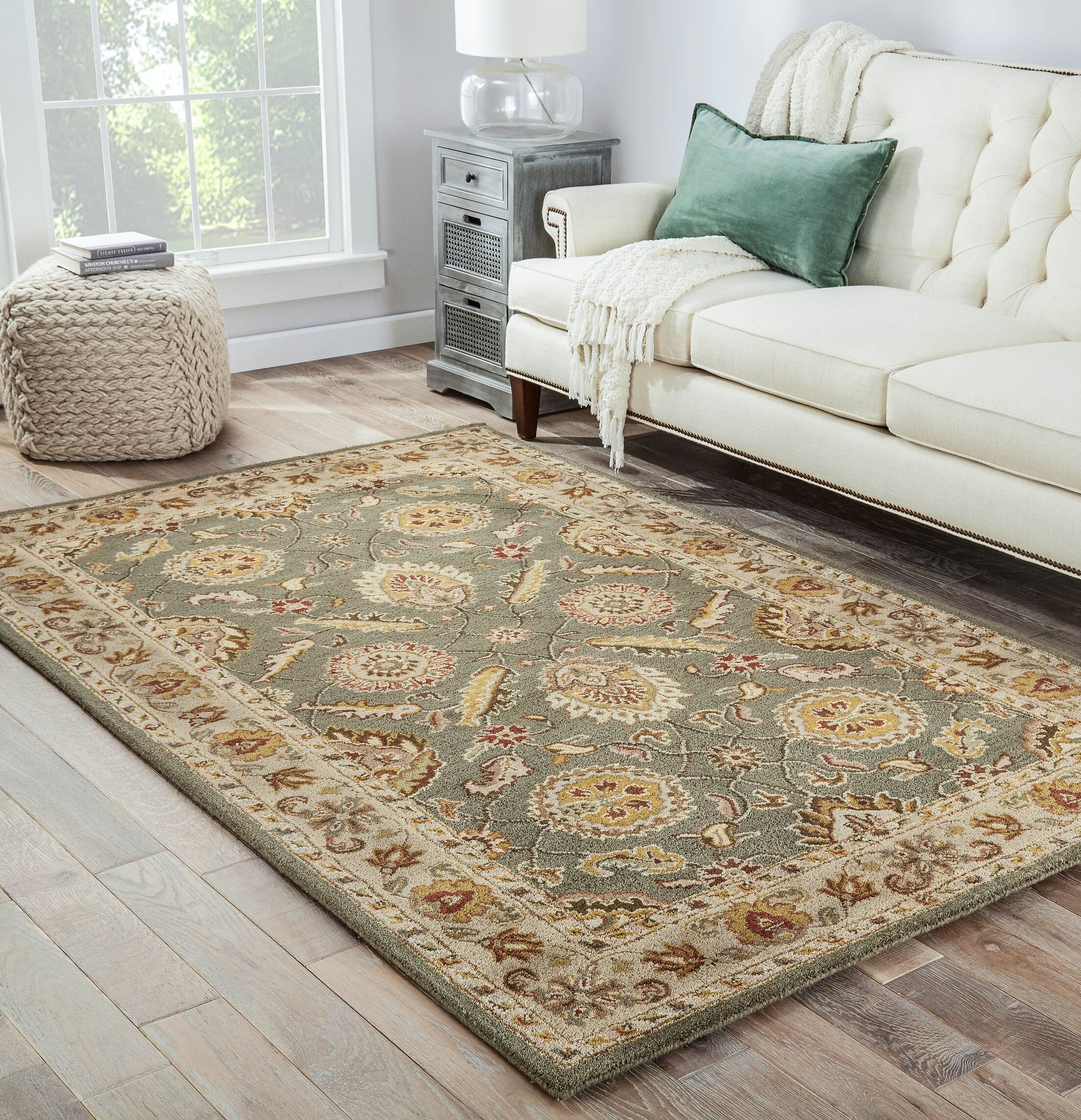 Sanson Tufted Wool Rug Rug Size: Rectangle 4' x 8'