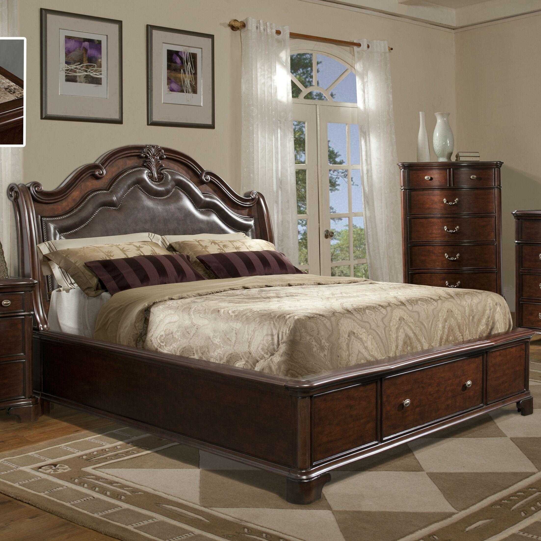 Alanya Upholstered Storage Platform Bed Size: Queen
