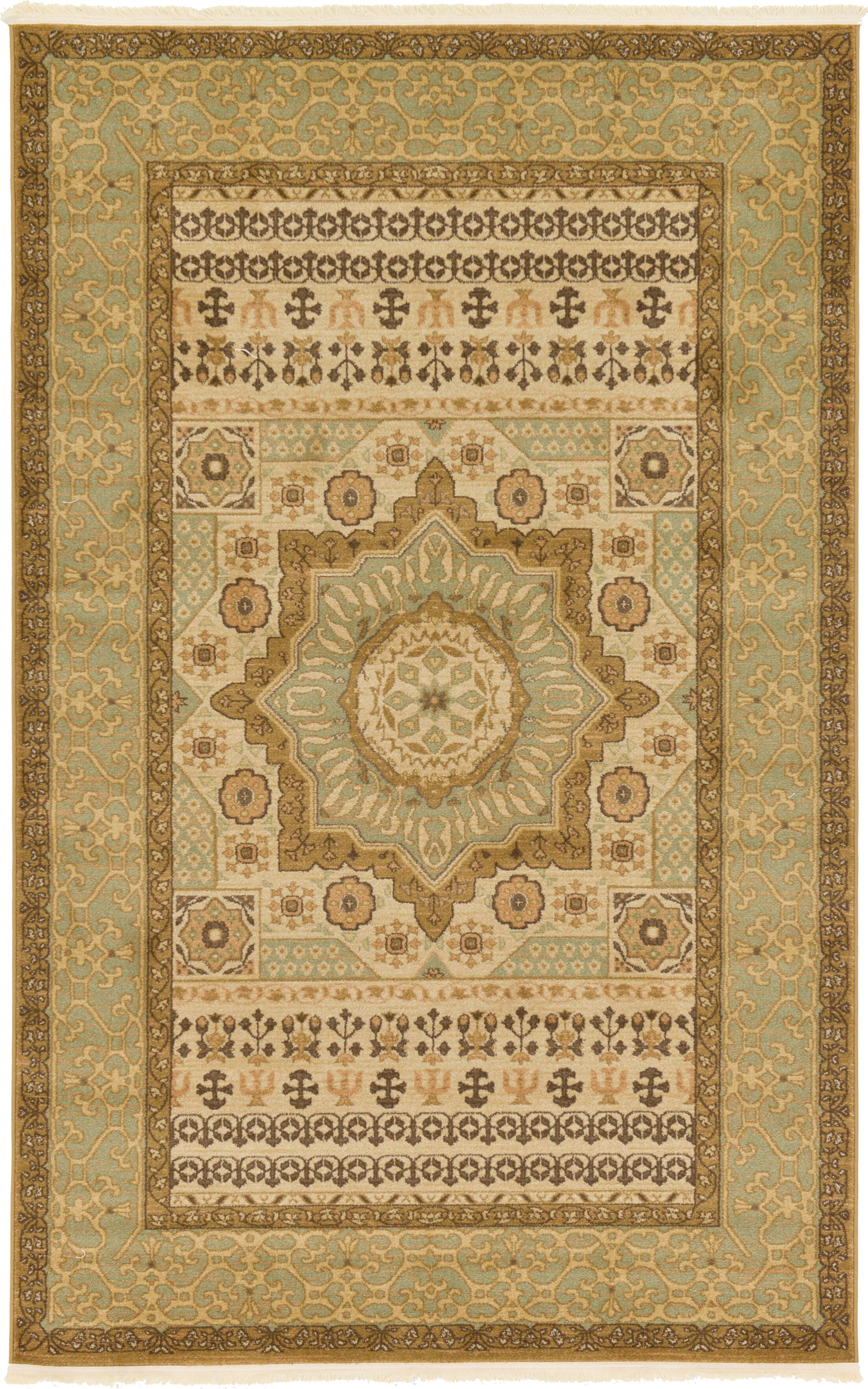 Laurelwood Cream Area Rug Rug Size: Rectangle 5' x 8'