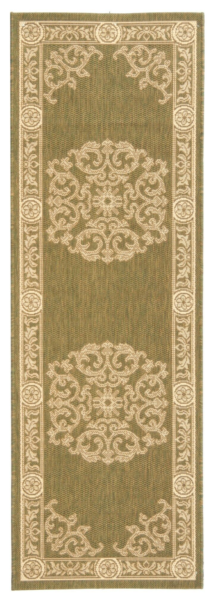 Carsen Olive/Natural Outdoor Rug Rug Size: Rectangle 2'7