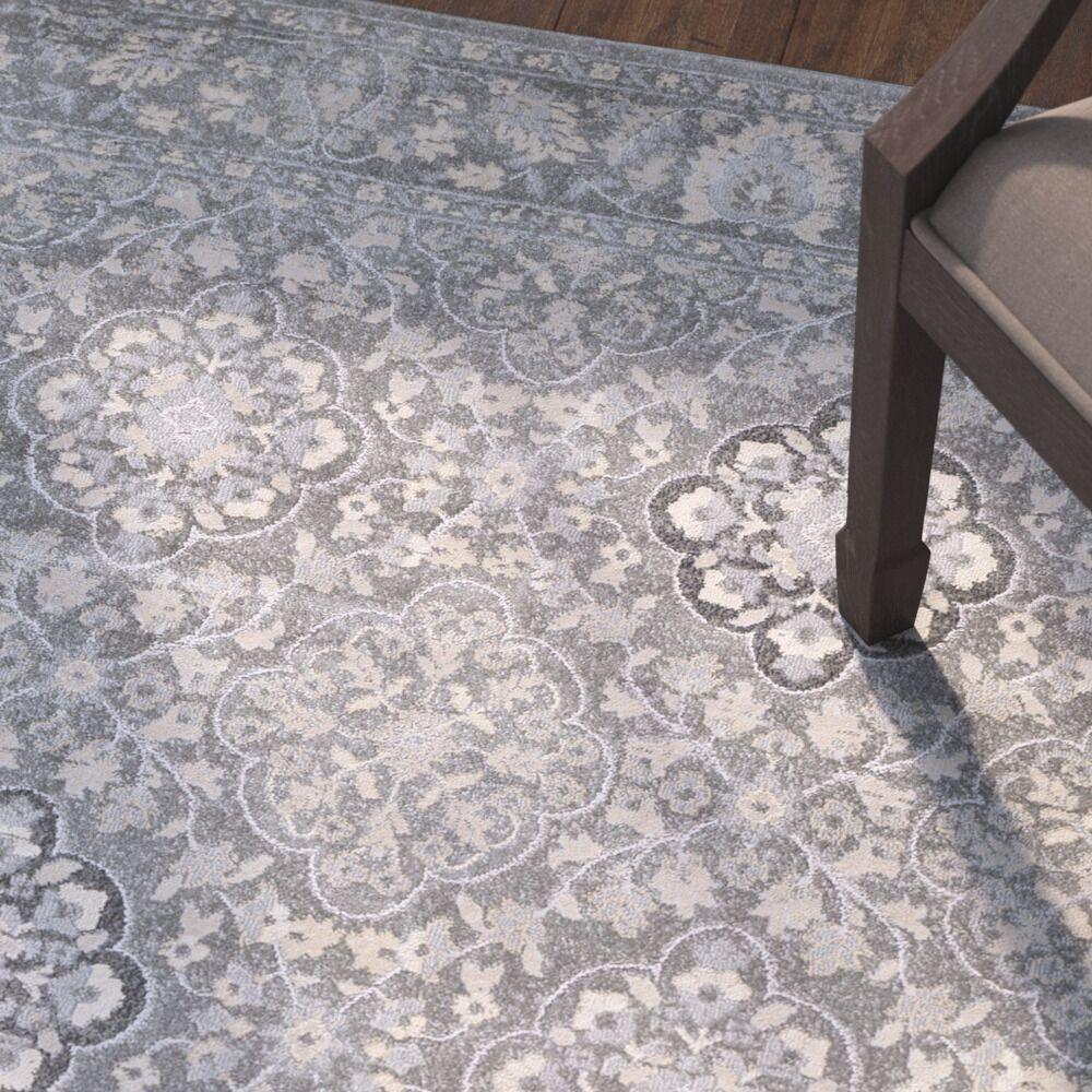 Villegas Medium Gray/Cream Area Rug Rug Size: Rectangle 2' x 3'