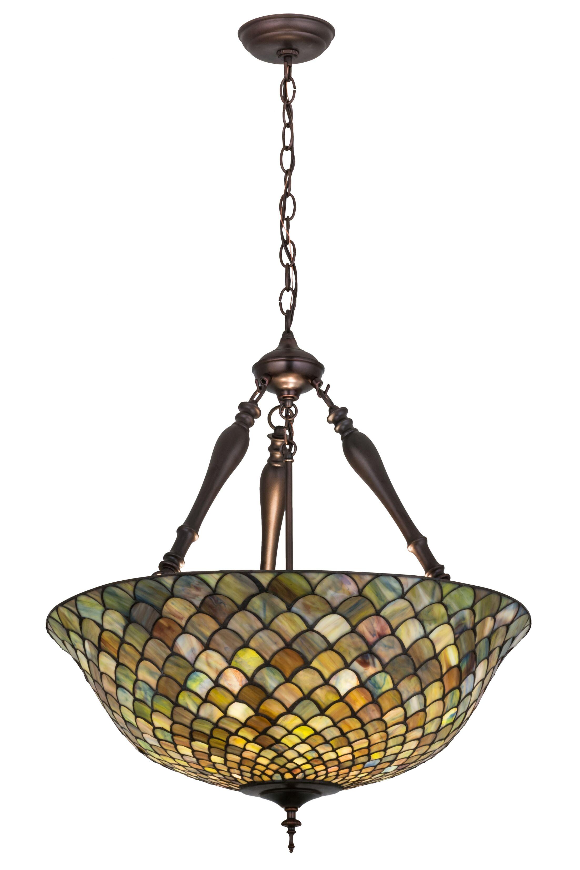 Isola 3-Light Bowl Pendant Size: 30