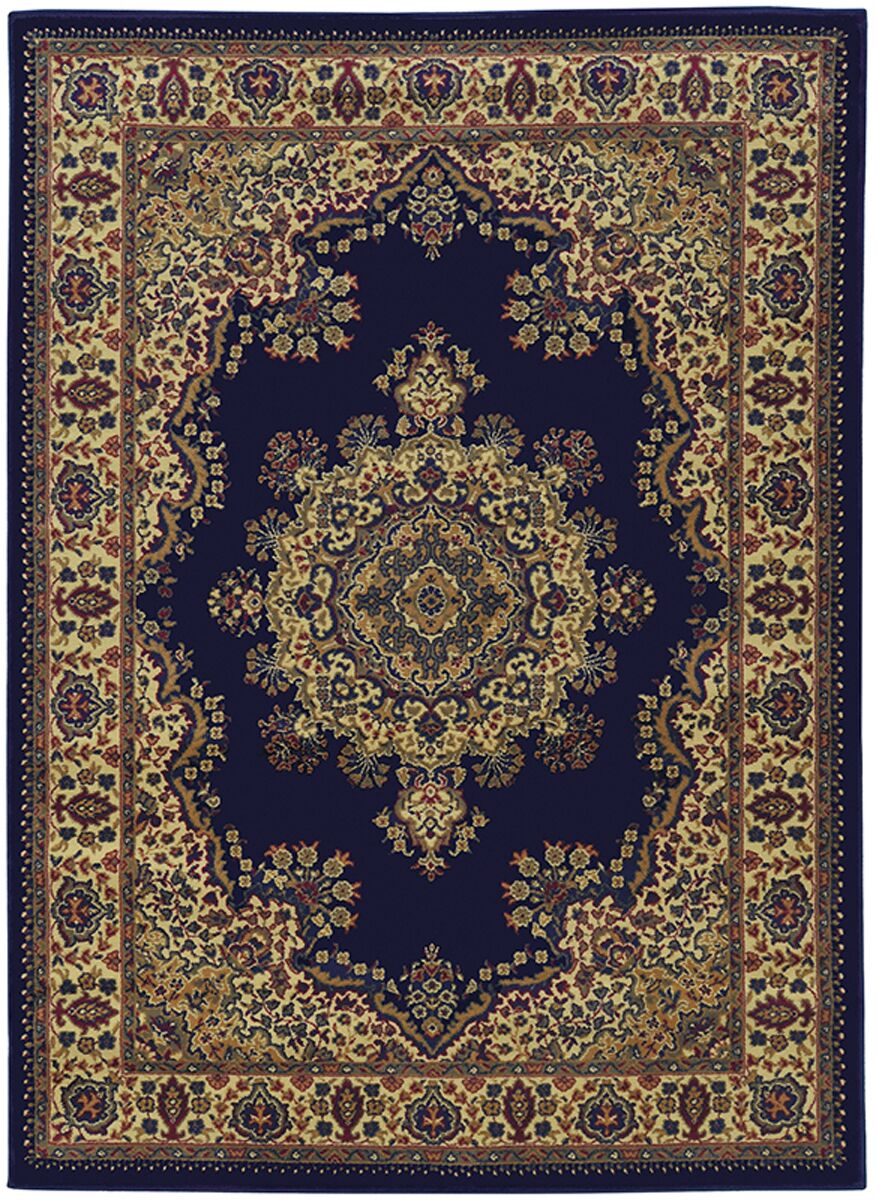 Northington Blue Area Rug Rug Size: Rectangle 5'5