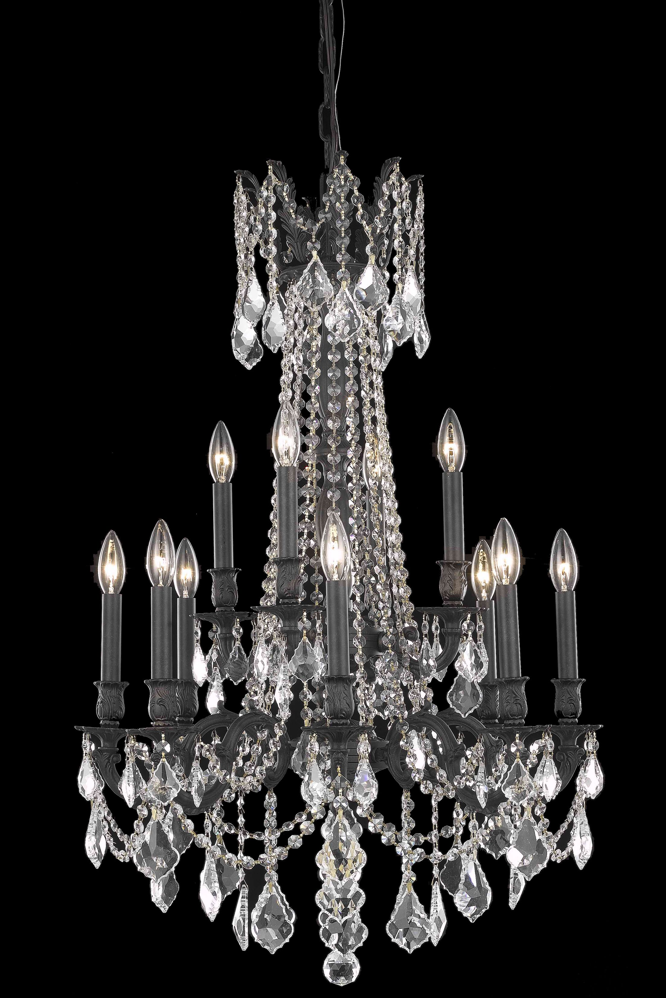 Utica 12-Light Candle Style Chandelier Crystal Color / Crystal Trim: Crystal (Clear) / Royal Cut