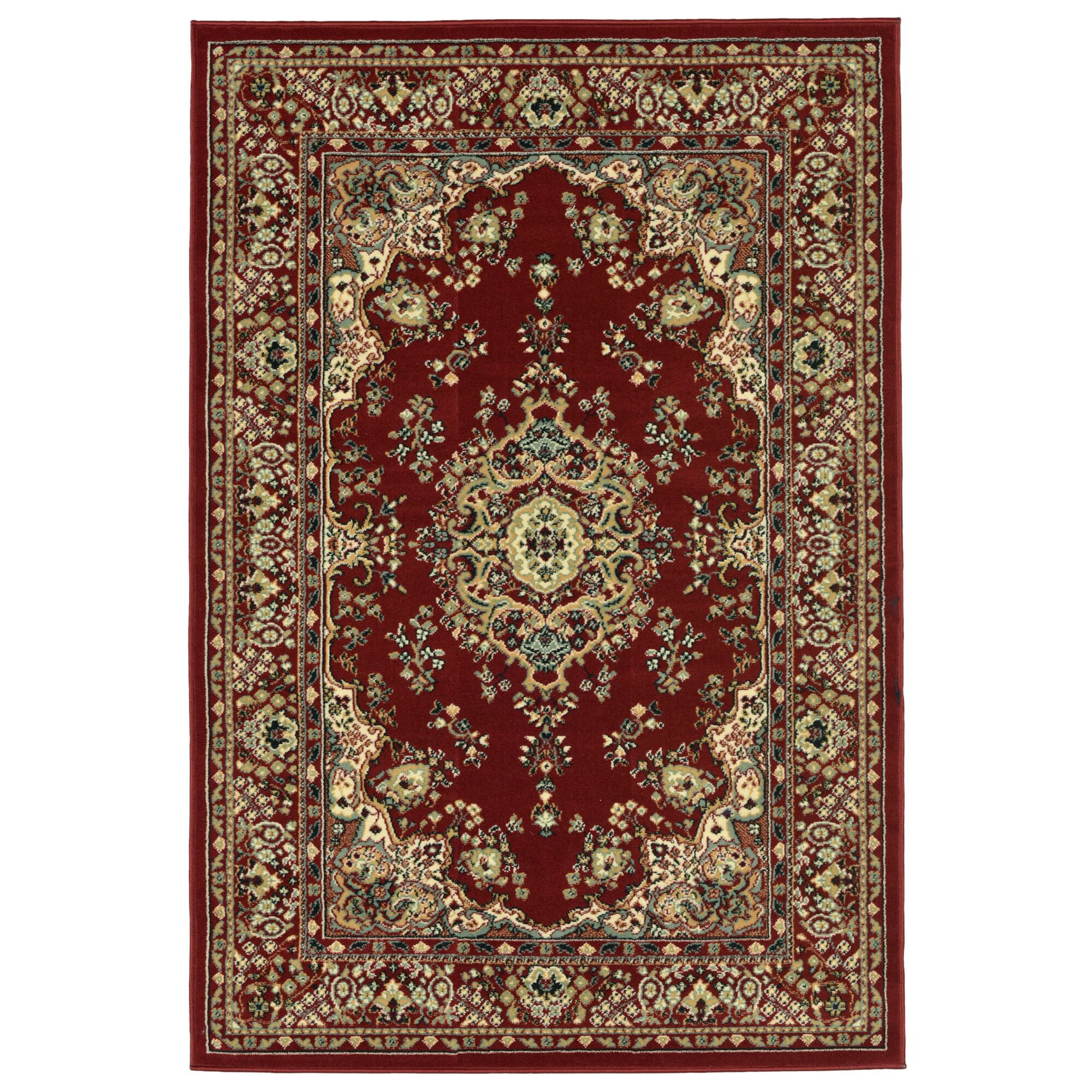 Arias Kermin Red Area Rug Rug Size: 7'6