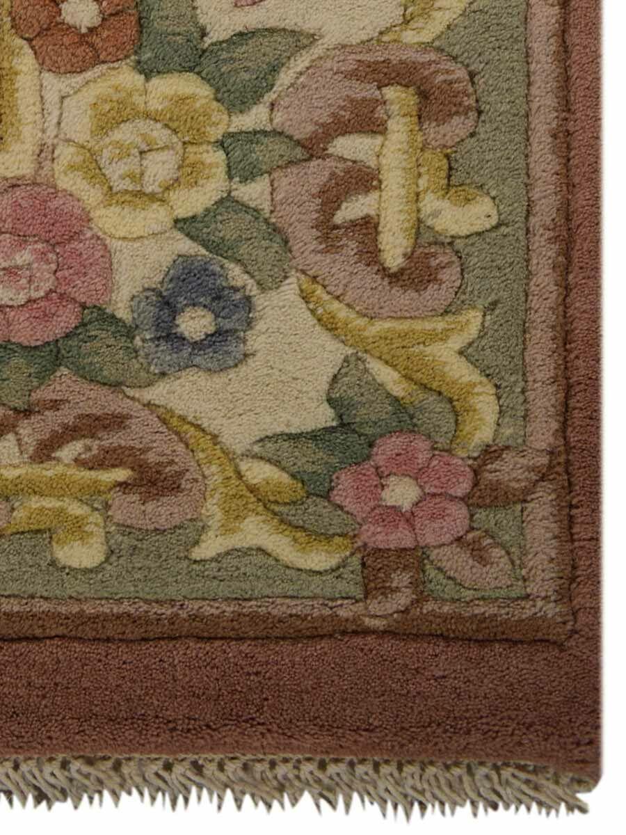 Shephard Hand-Woven Peach Area Rug Rug Size: Rectangle5'4