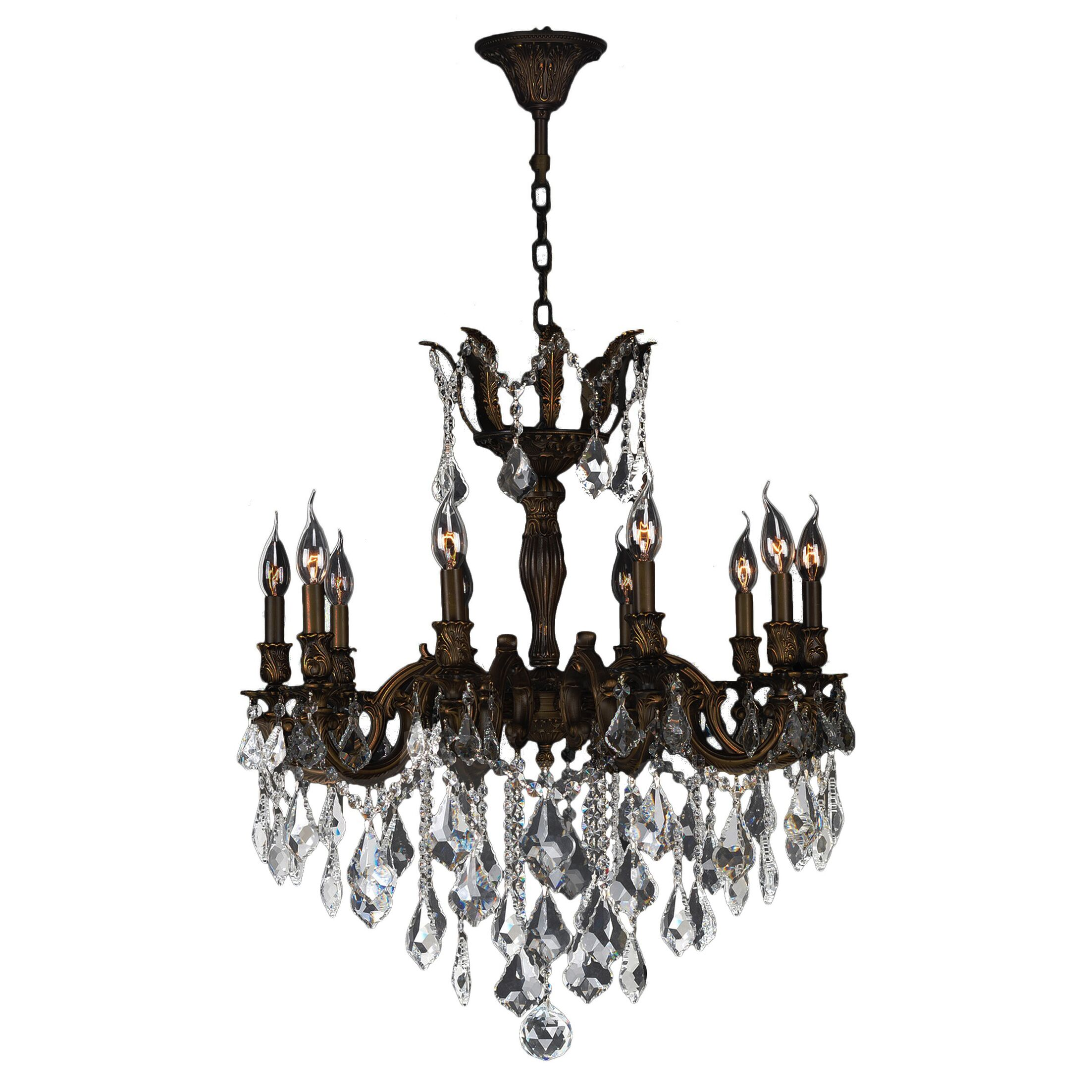 Dodson 10-Light Candle Style Chandelier Crystal Color: Clear