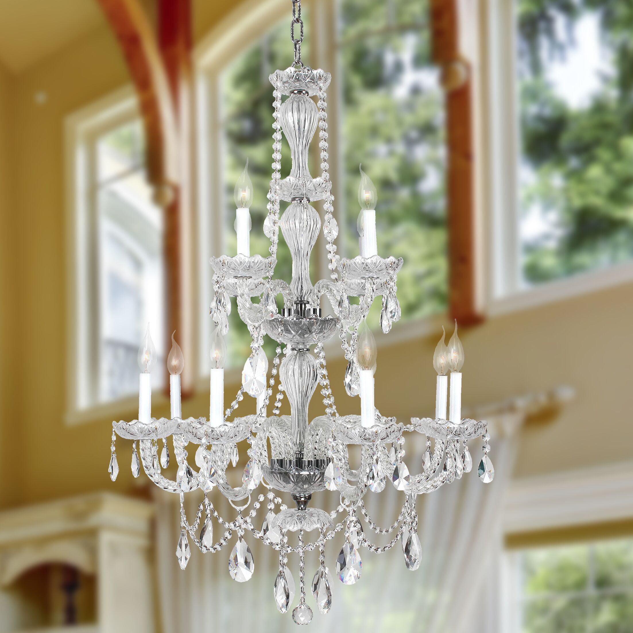 Doggett 12-Light Candle Style Chandelier Finish: Chrome