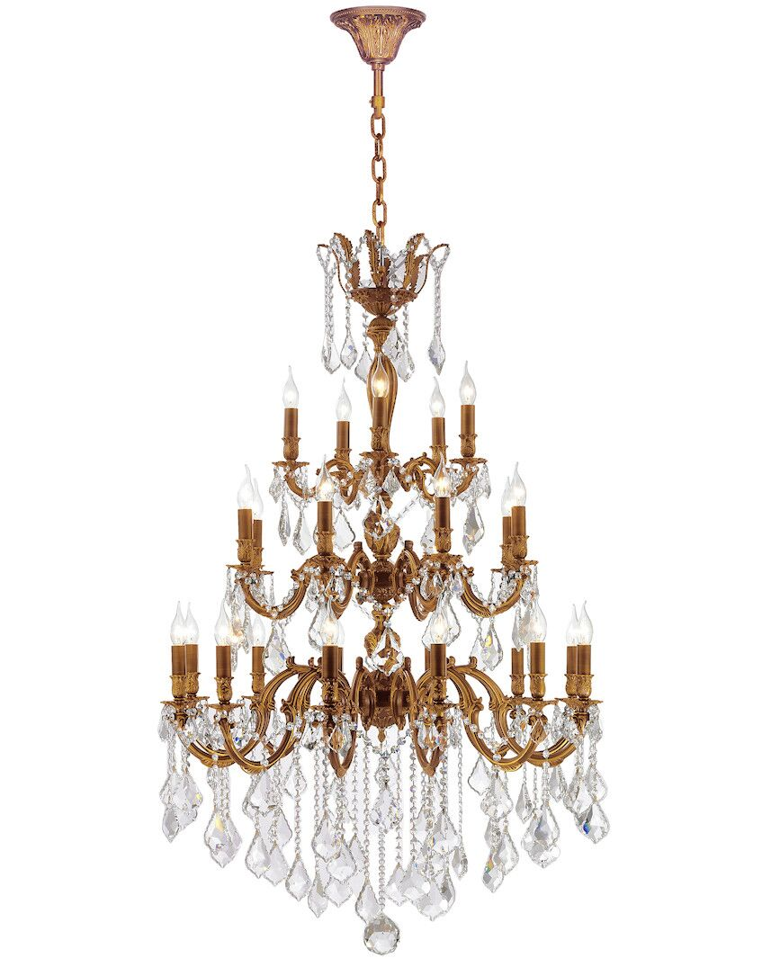Dodson 25-Light Hardwired Candle Style Chandelier Crystal Color: Clear