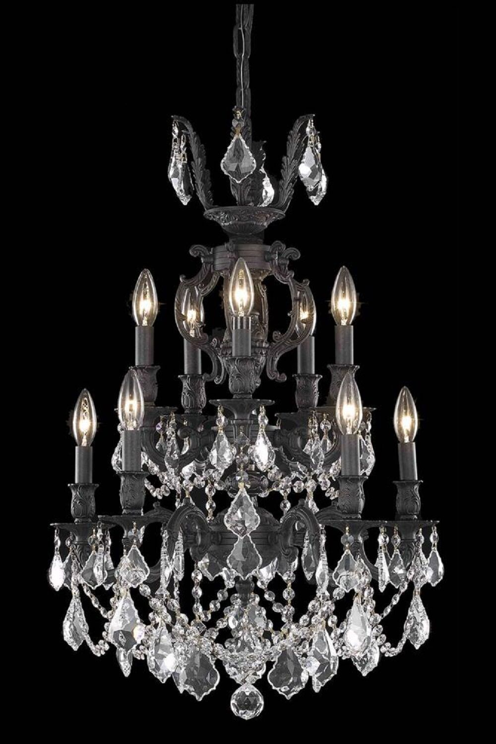 Canary 10-Light Candle Style Chandelier Crystal Color / Crystal Trim: Golden Shadow (Champagne) / Royal Cut