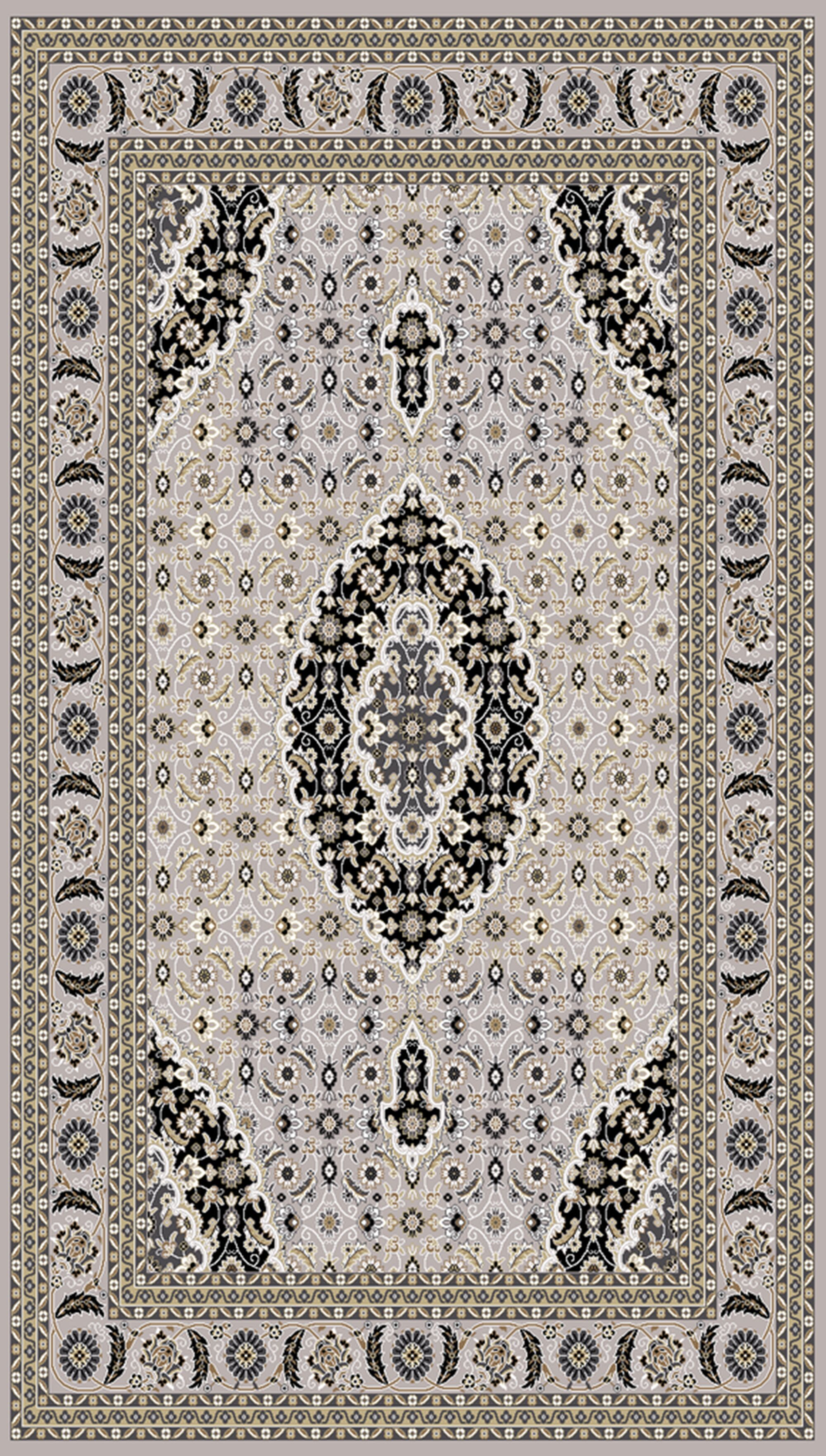 Boody Traditional Oriental Gray Area Rug Rug Size: Rectangle 7'10