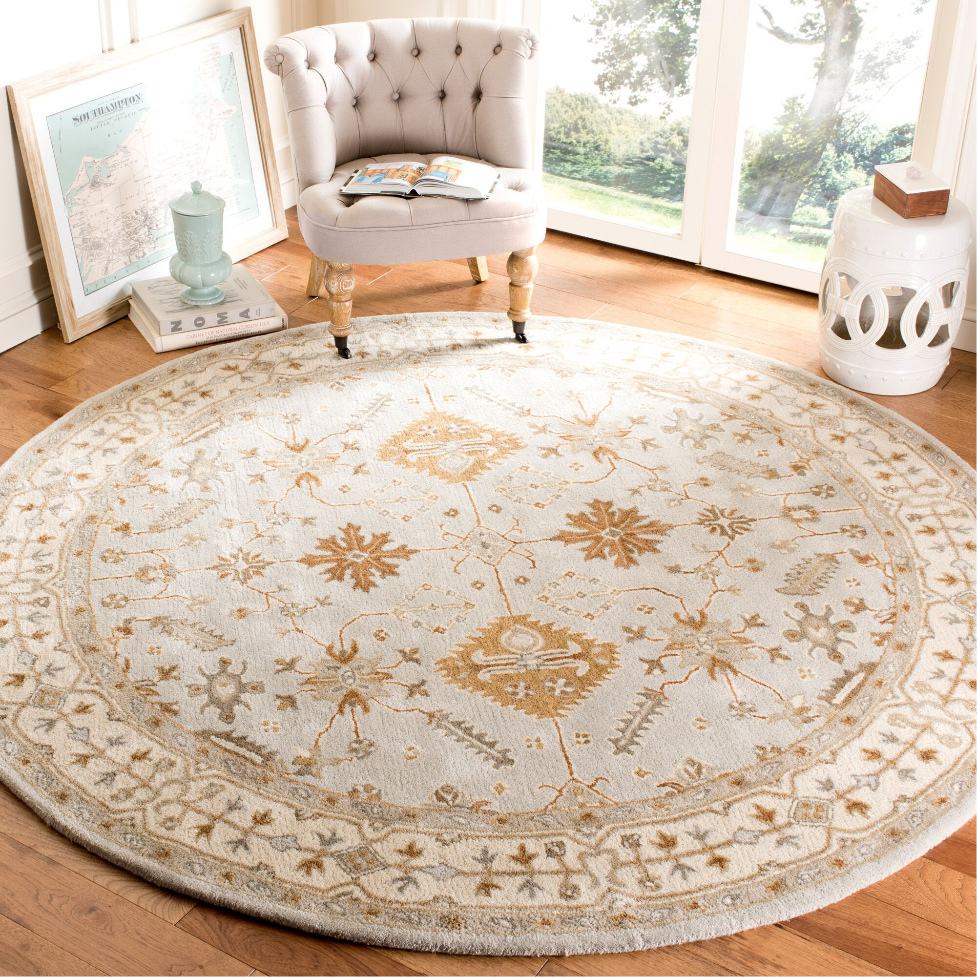 Colliers Hand-Tufted Wool Light Gray/Cream Area Rug Rug Size: Runner 2'3