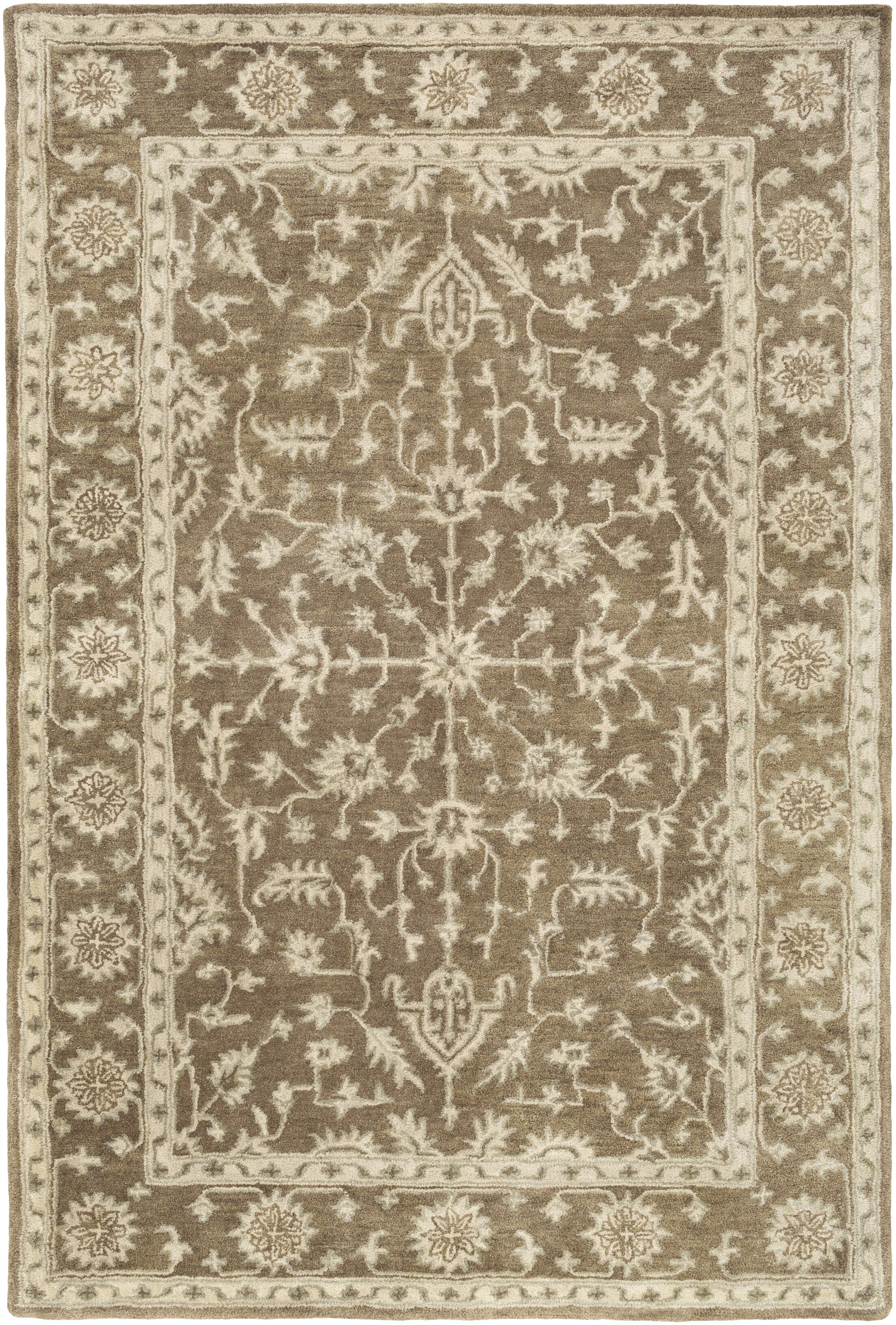 Fulham Hand-Tufted Dark Brown/Khaki Area Rug Rug Size: Rectangle 5' x 7'6
