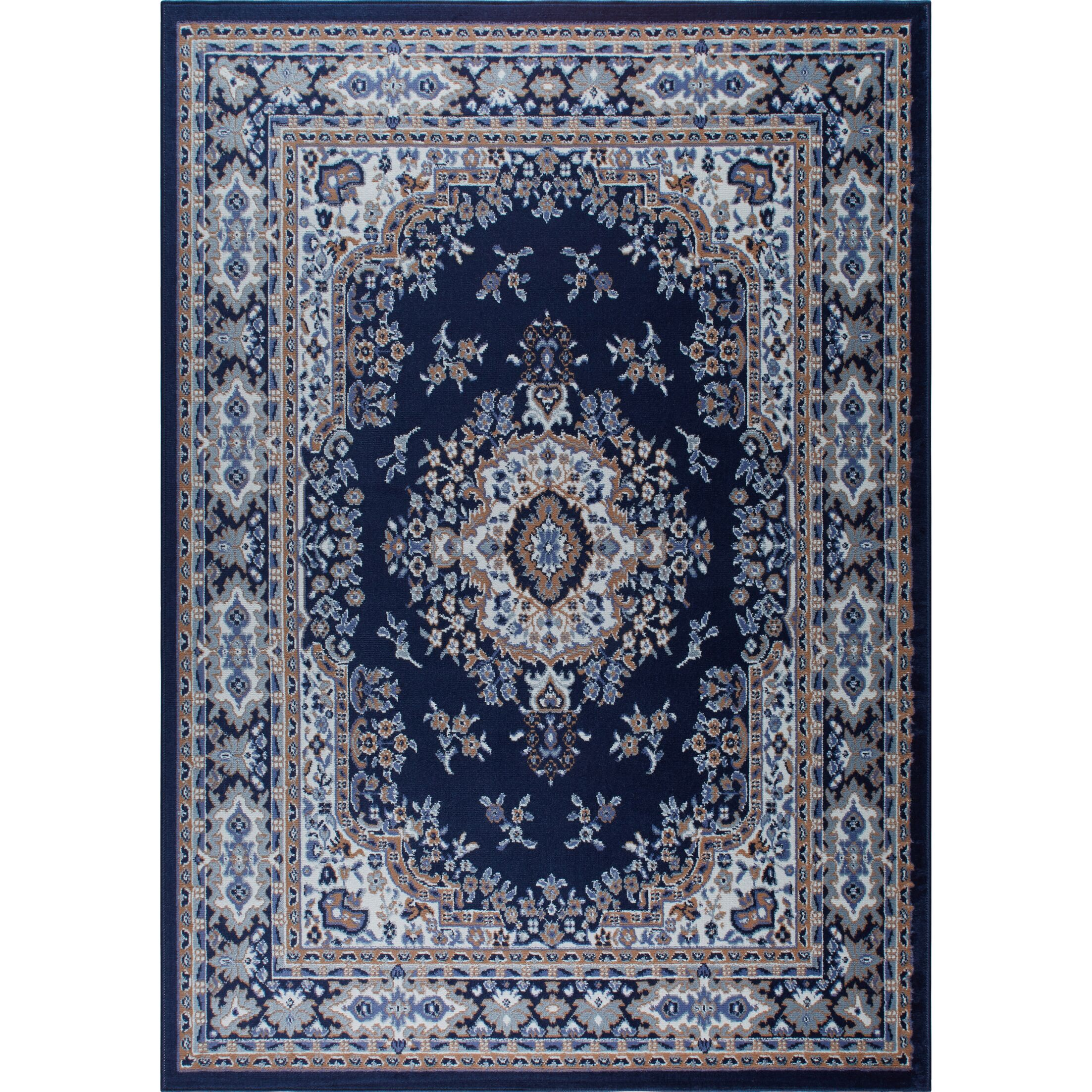 Lilly Blue Area Rug Rug Size: 9'2