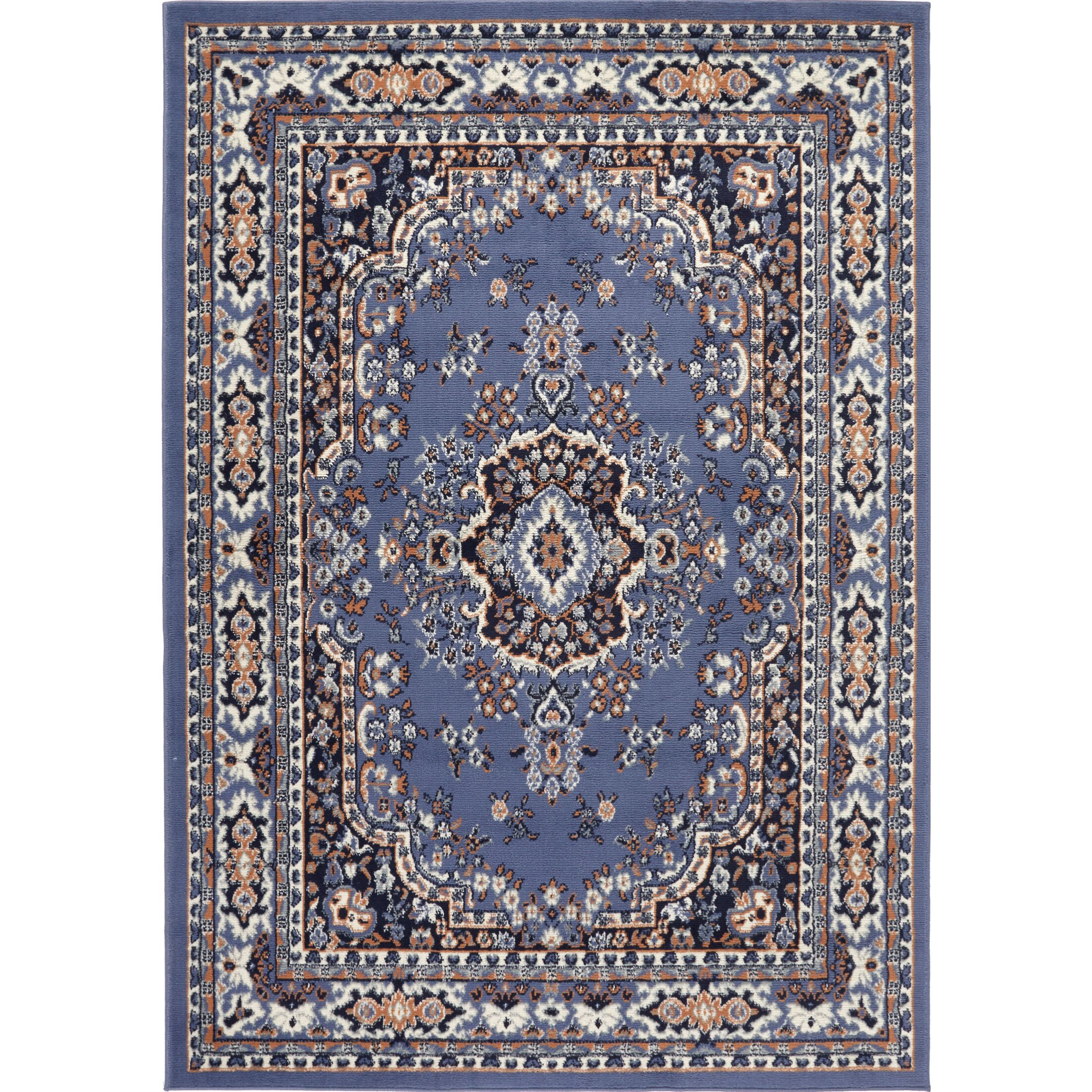 Lilly Country Blue Area Rug Rug Size: Rectangle 7'9