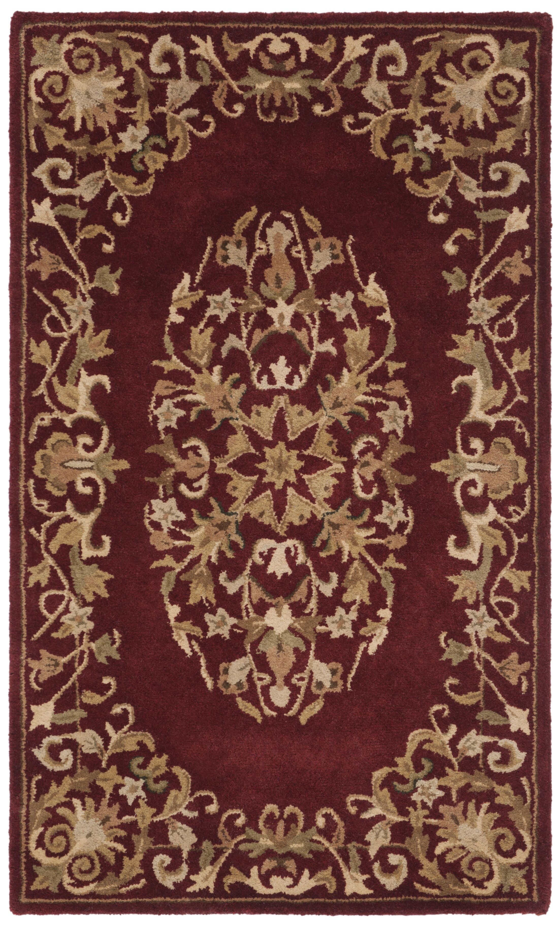 Balthrop Red/Yellow Floral Area Rug Rug Size: Rectangle 4' x 6'