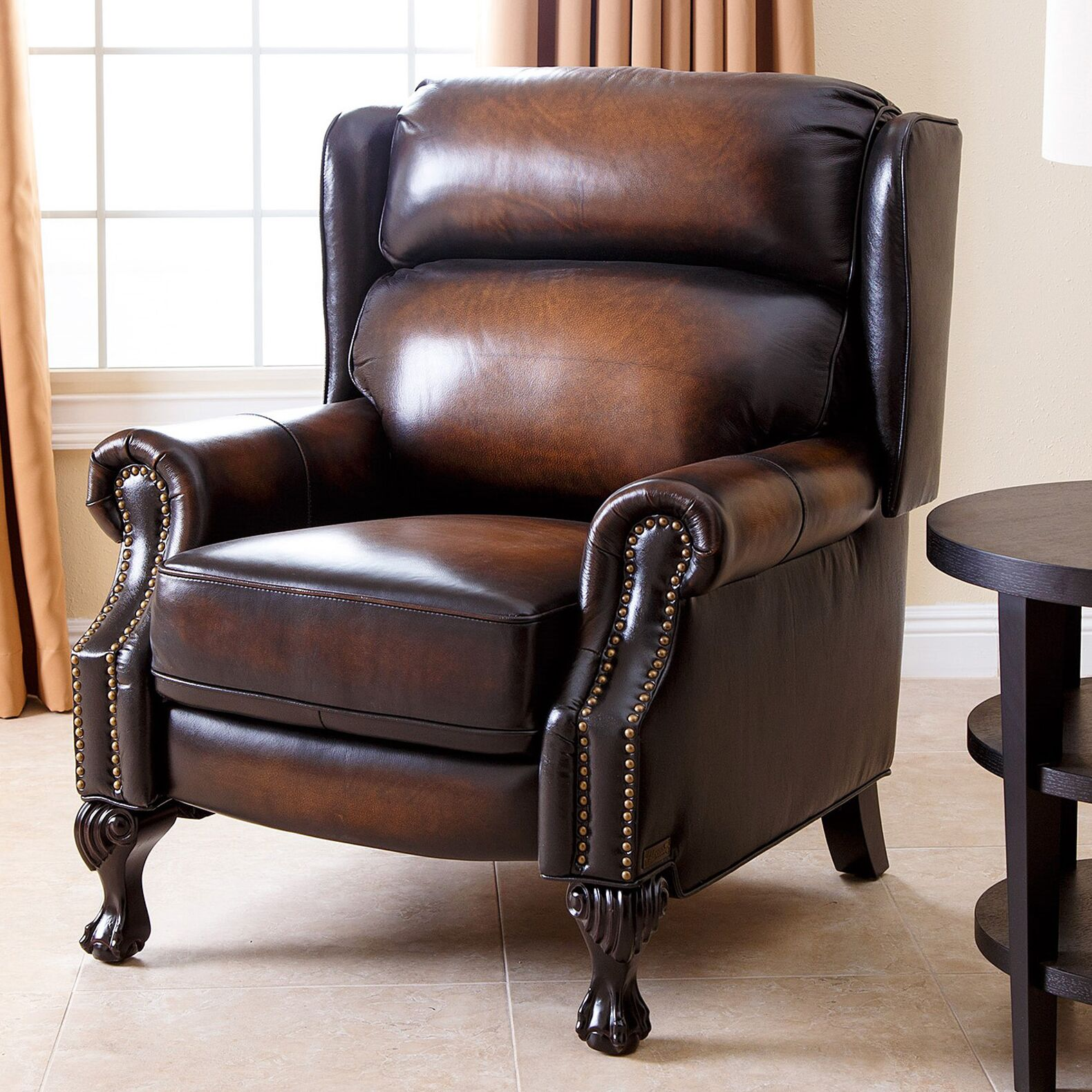 Shubrick Leather Manual Recliner