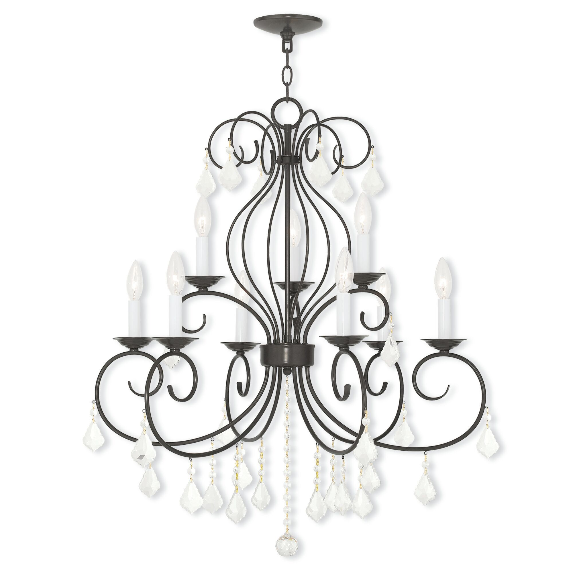 Dockray 9-Light Candle Style Chandelier Color: English Bronze