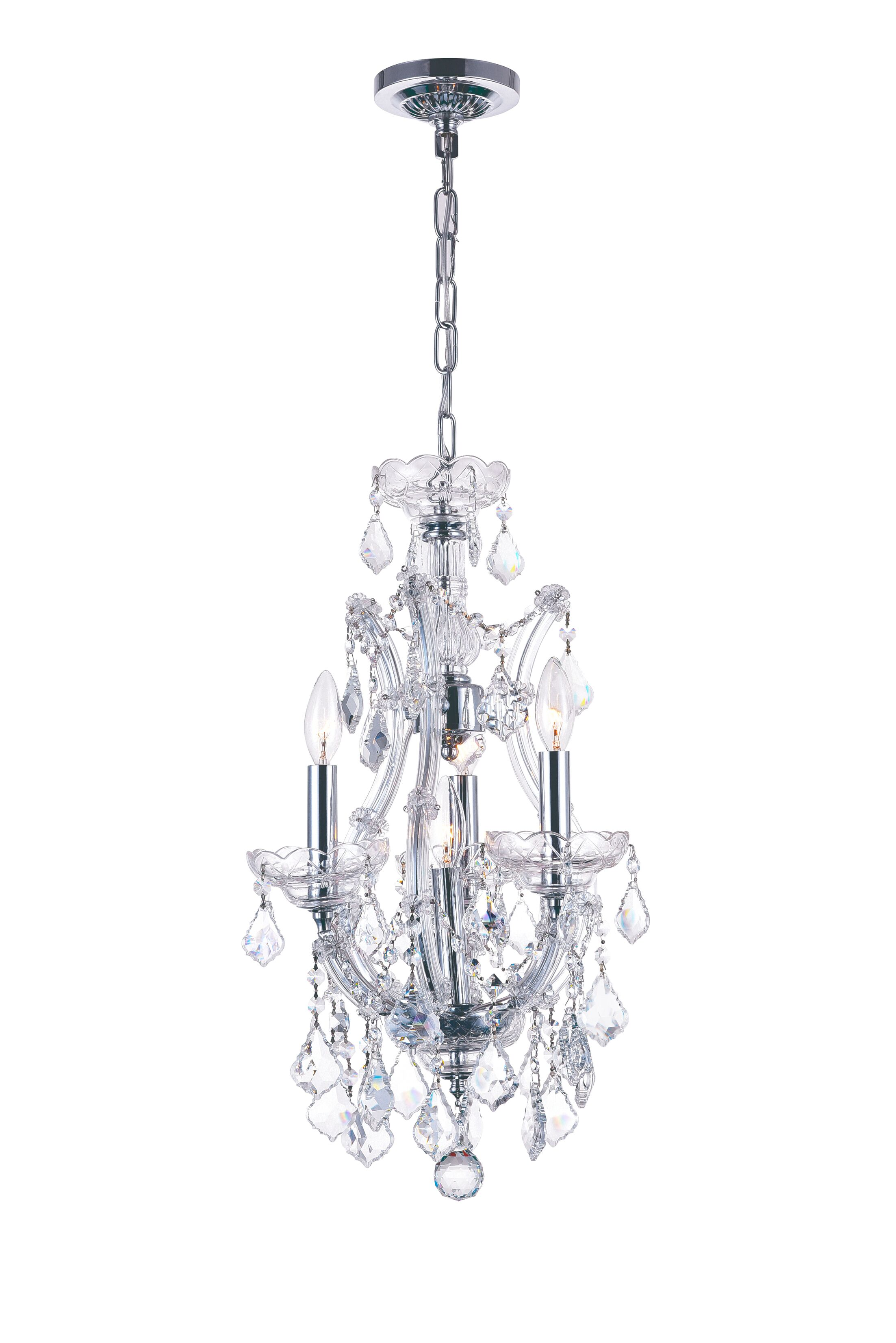 Orr Crystal 4-Light Candle Style Chandelier Color: Chrome