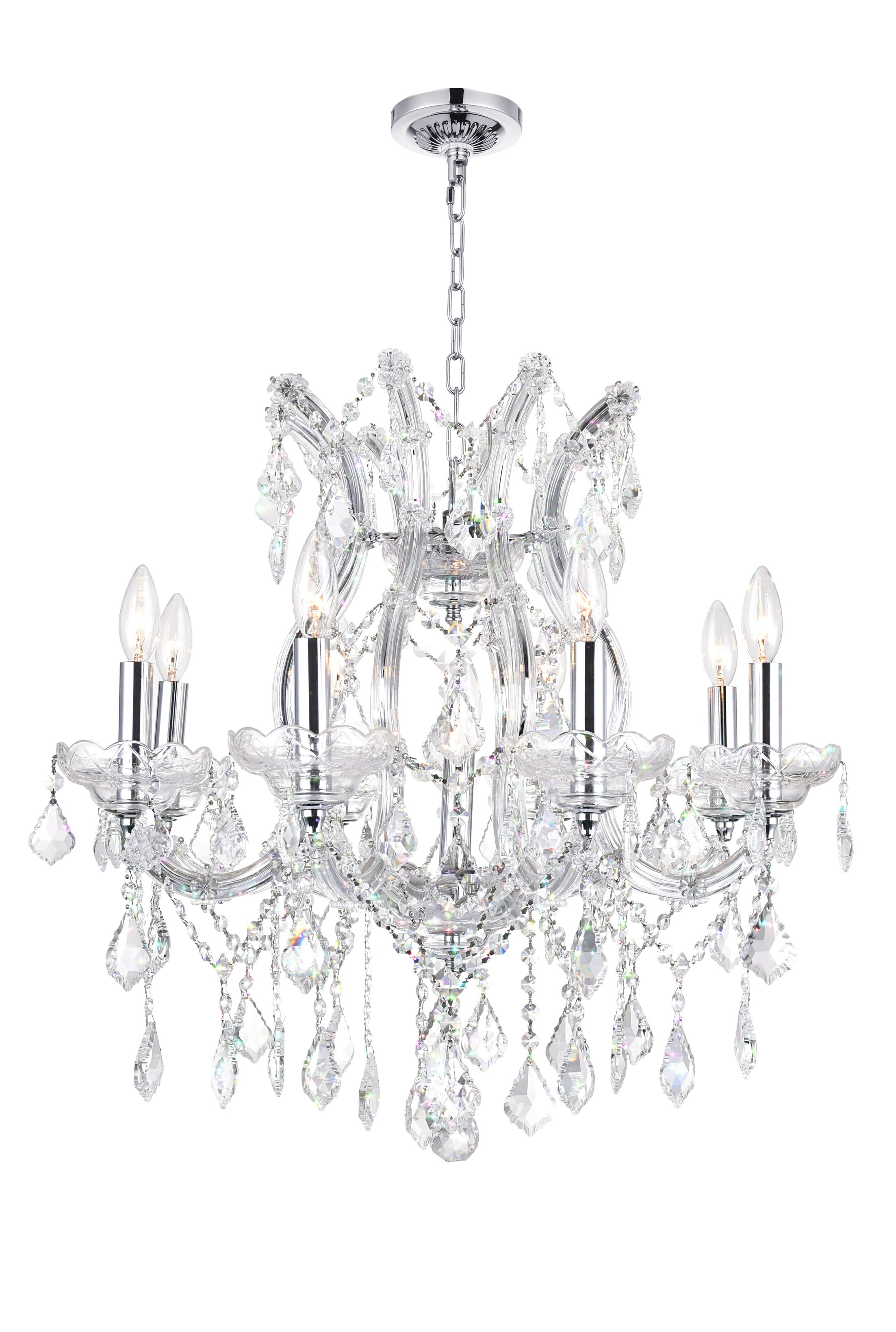Orr Crystal 9-Light Chandelier Crystal Color: Clear
