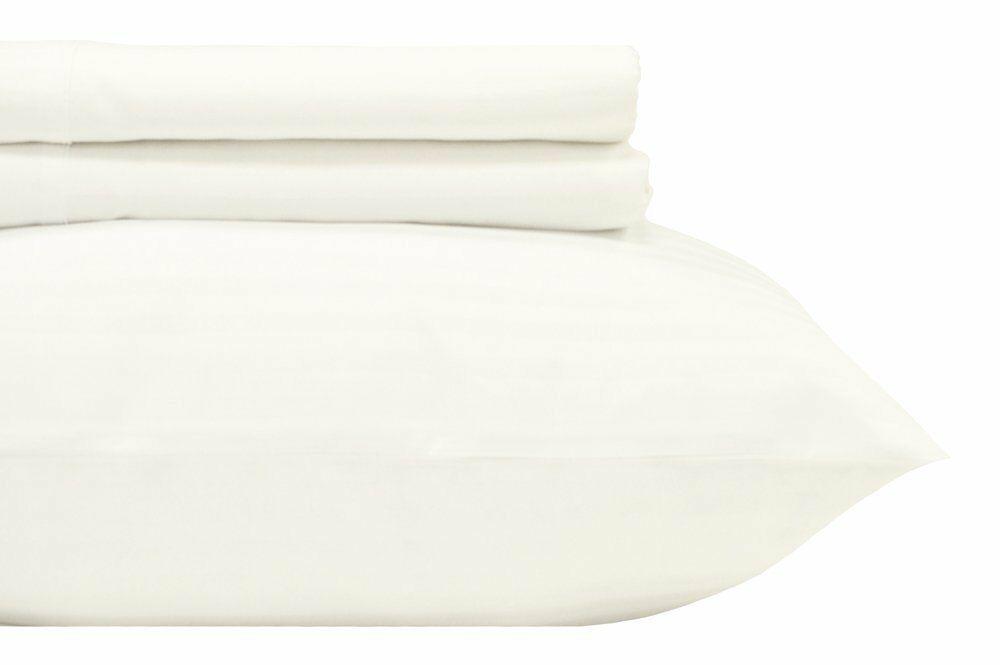 400 Thread Count Egyptian Quality Cotton Split Sheet Set Color: White, Size: King