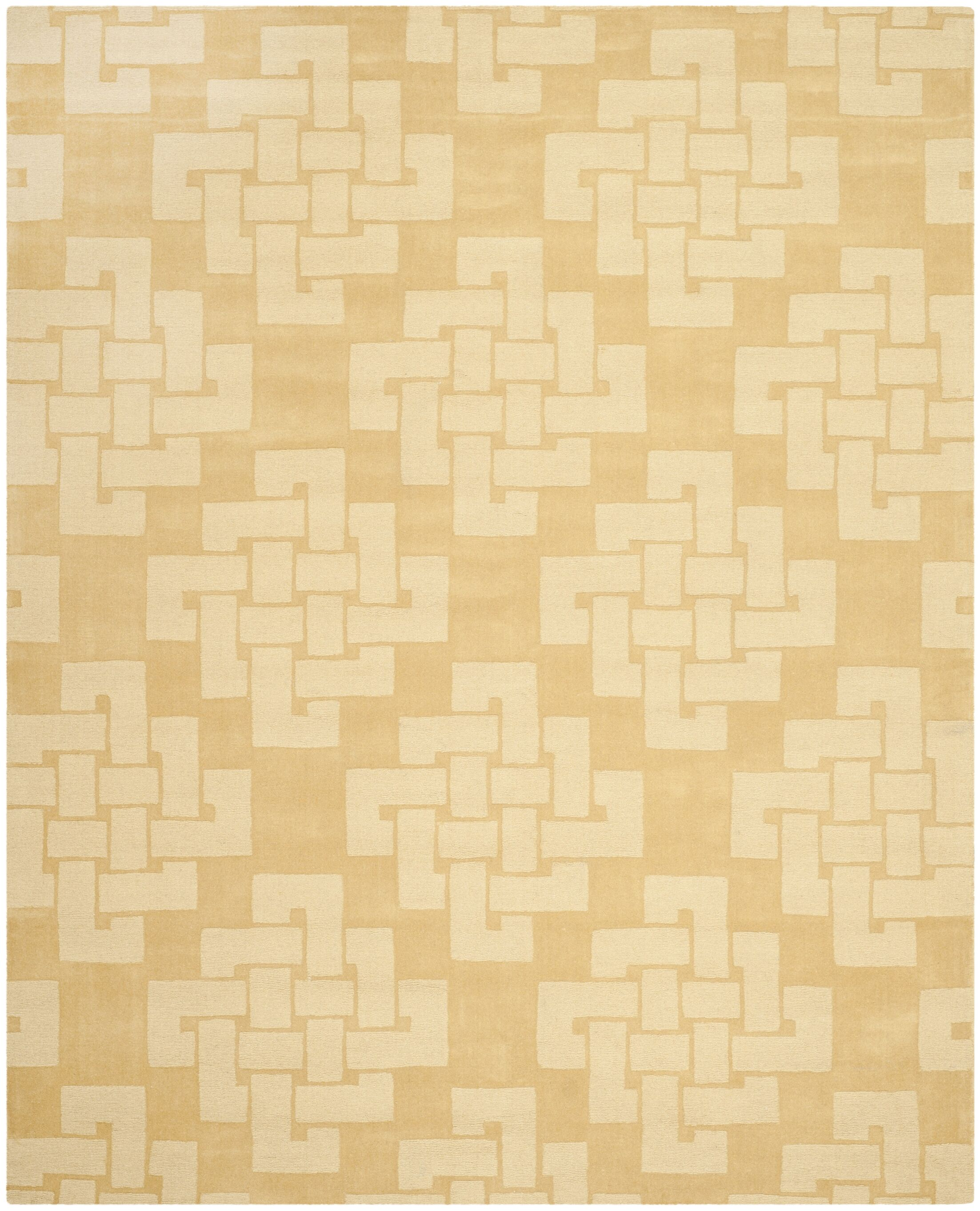 Knot Hand-Tufted Rattan Area Rug Rug Size: Rectangle 9' x 12'