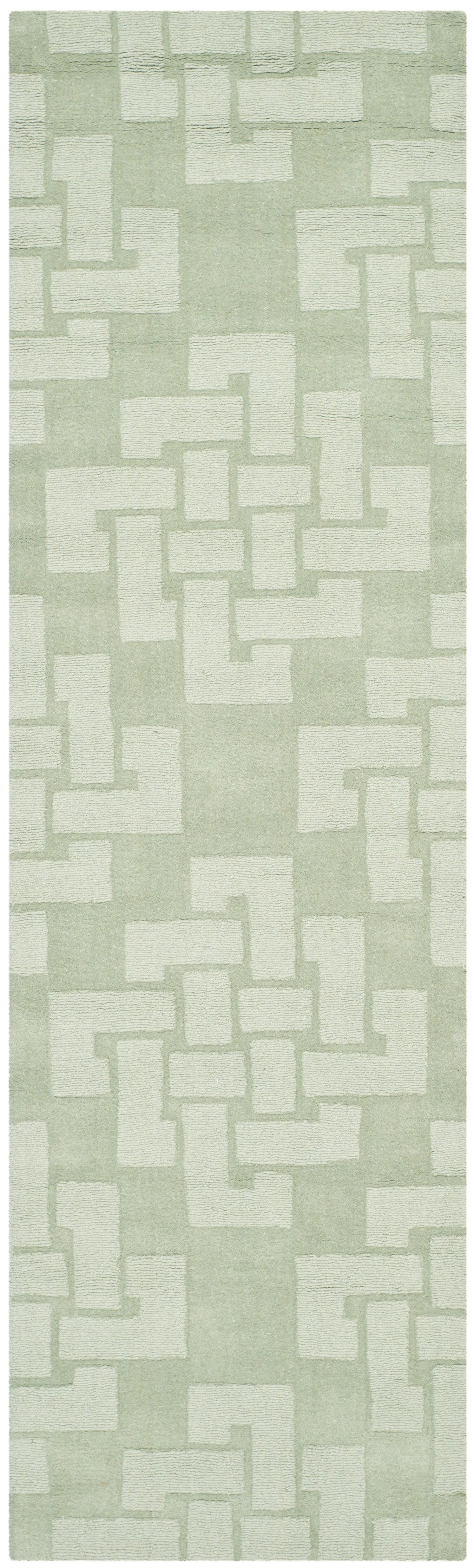 Knot Hand-Tufted Sea Anemone Area Rug Rug Size: Runner 2'3
