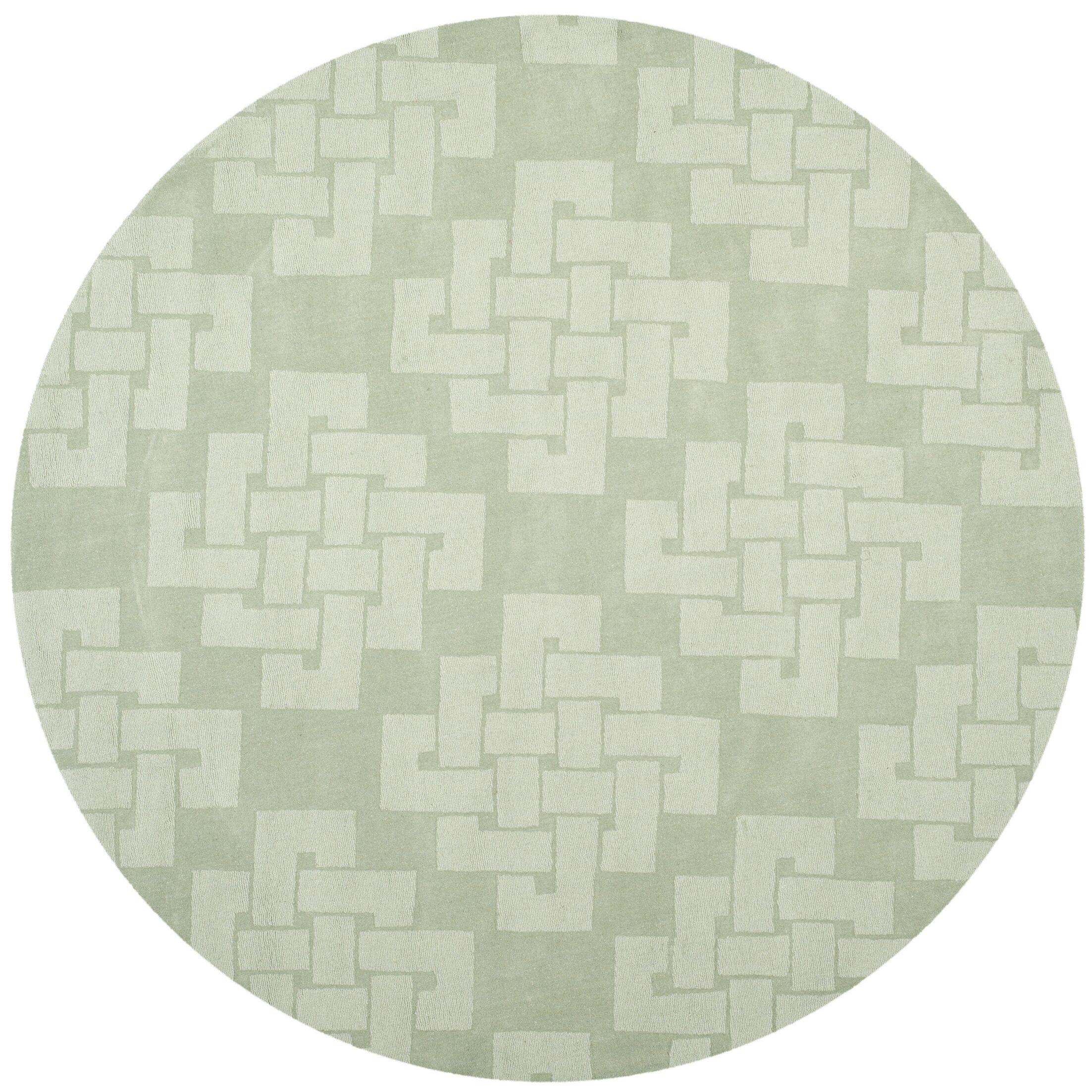 Knot Hand-Tufted Sea Anemone Area Rug Rug Size: Round 8' x 8'