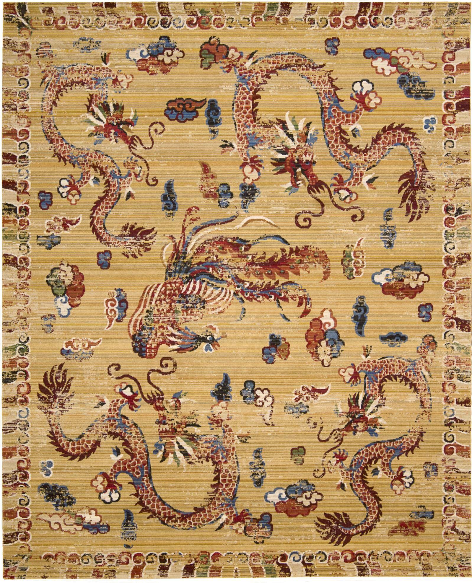 Chosposi Ochre Wool Gold Area Rug Rug Size: Rectangle 5'6