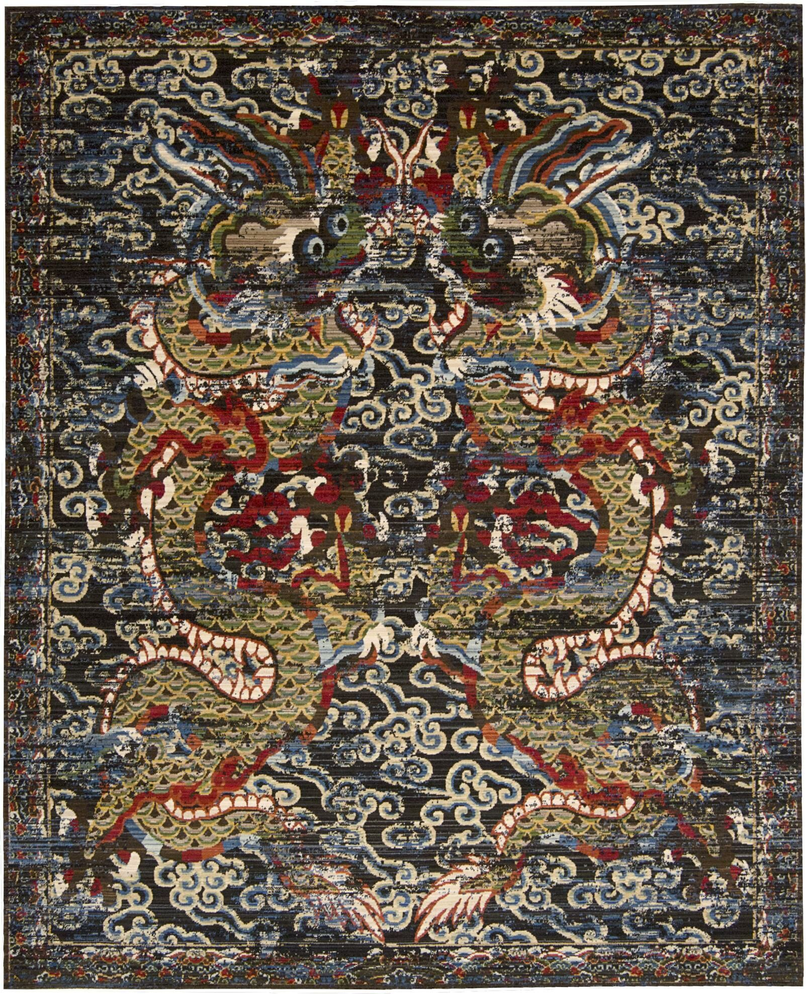 Chosposi Black Midnight Area Rug Rug Size: Rectangle 8'6