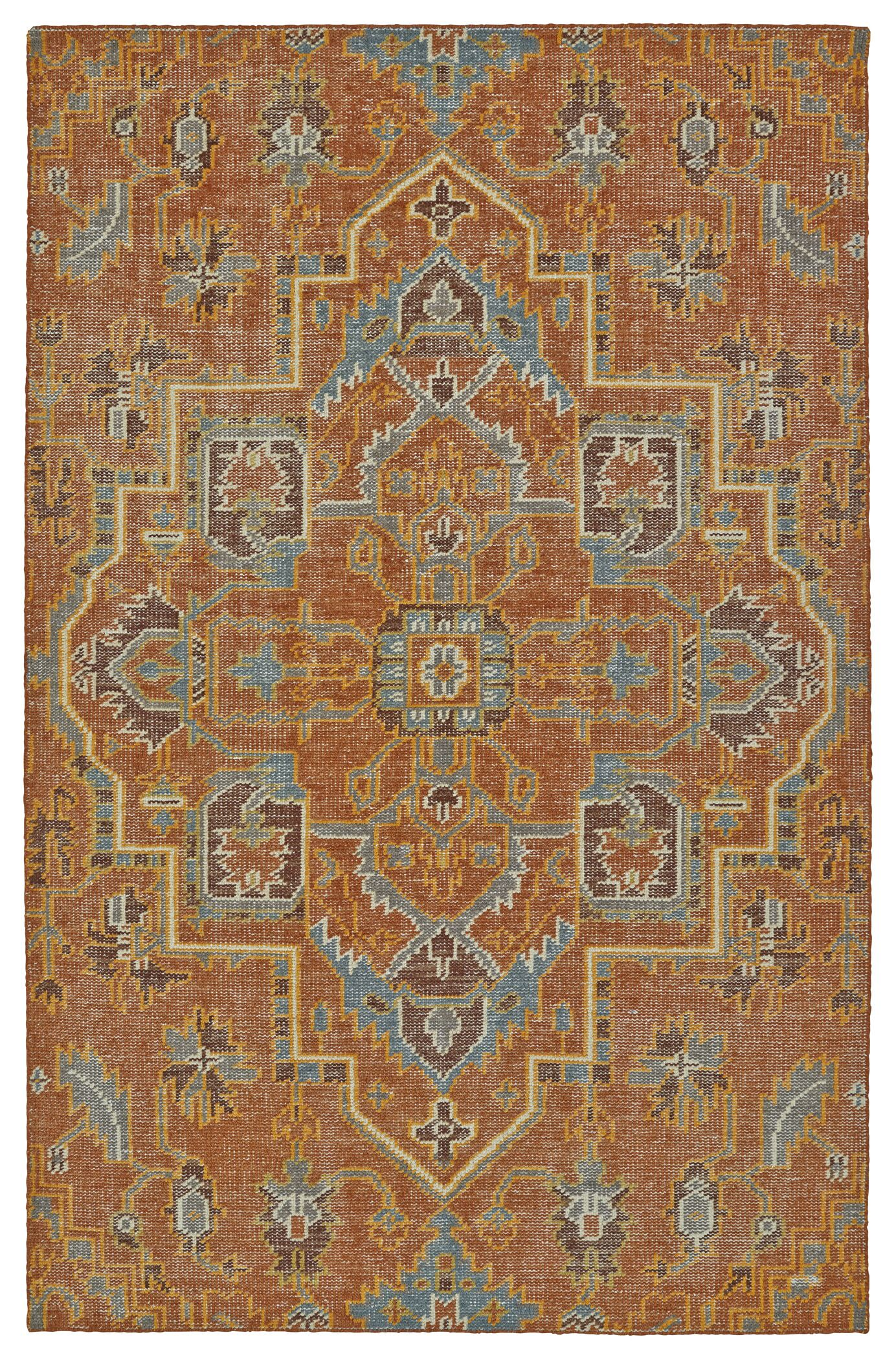 Aanya Hand-Knotted Paprika Area Rug Rug Size: Rectangle 5'6
