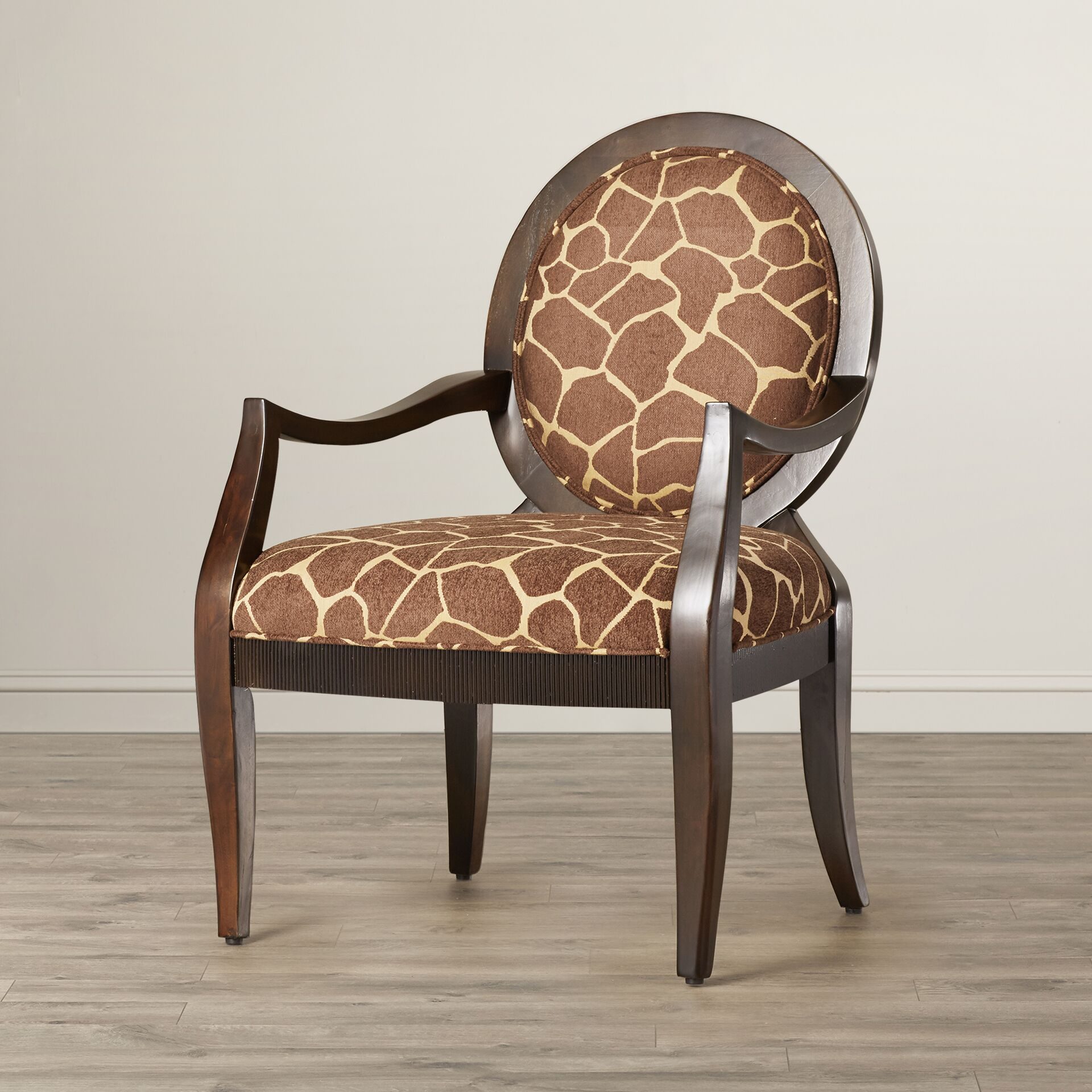 Asa Distressed Fabric Arm Chair