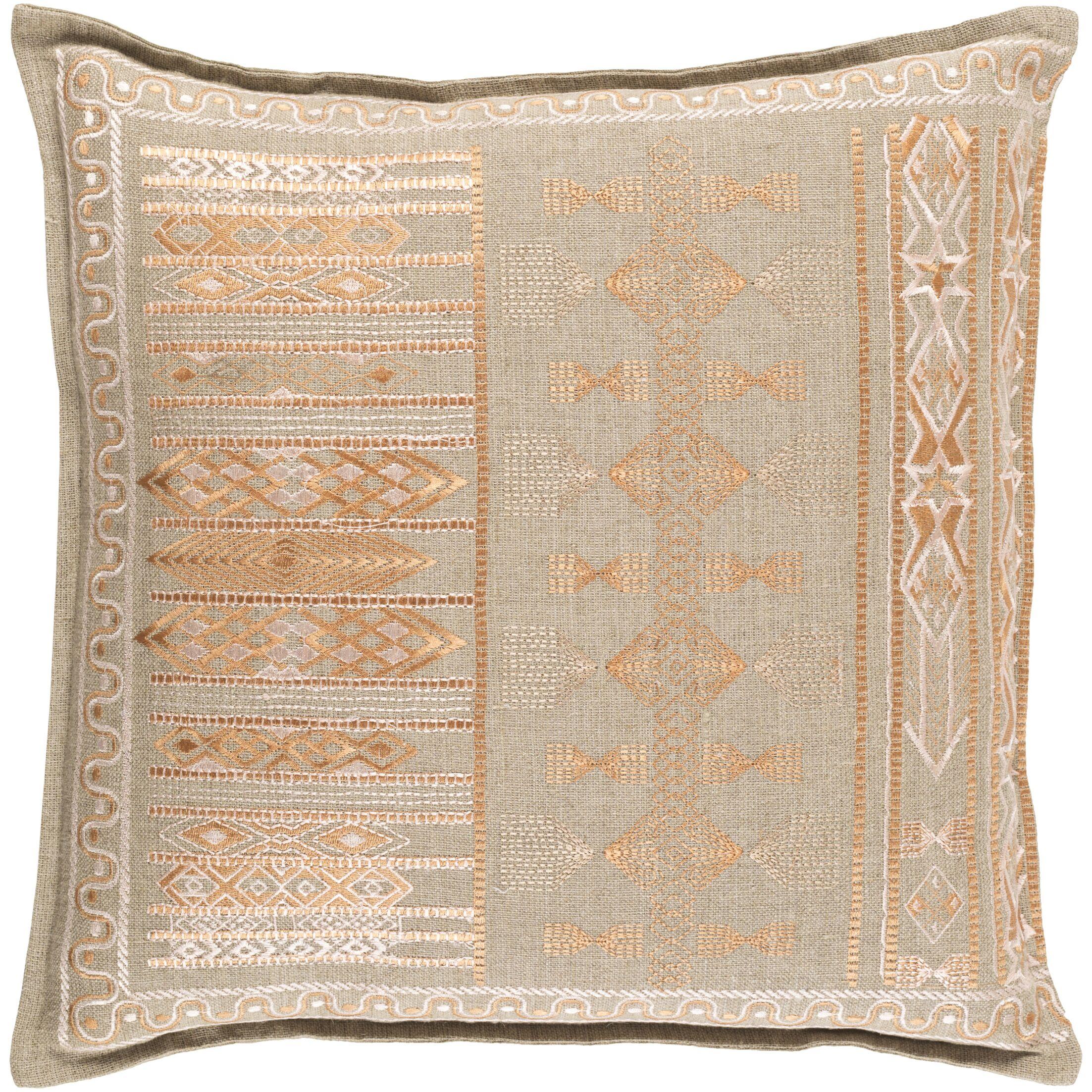 Amethyst Linen Pillow Cover Color: Orange, Size: 22