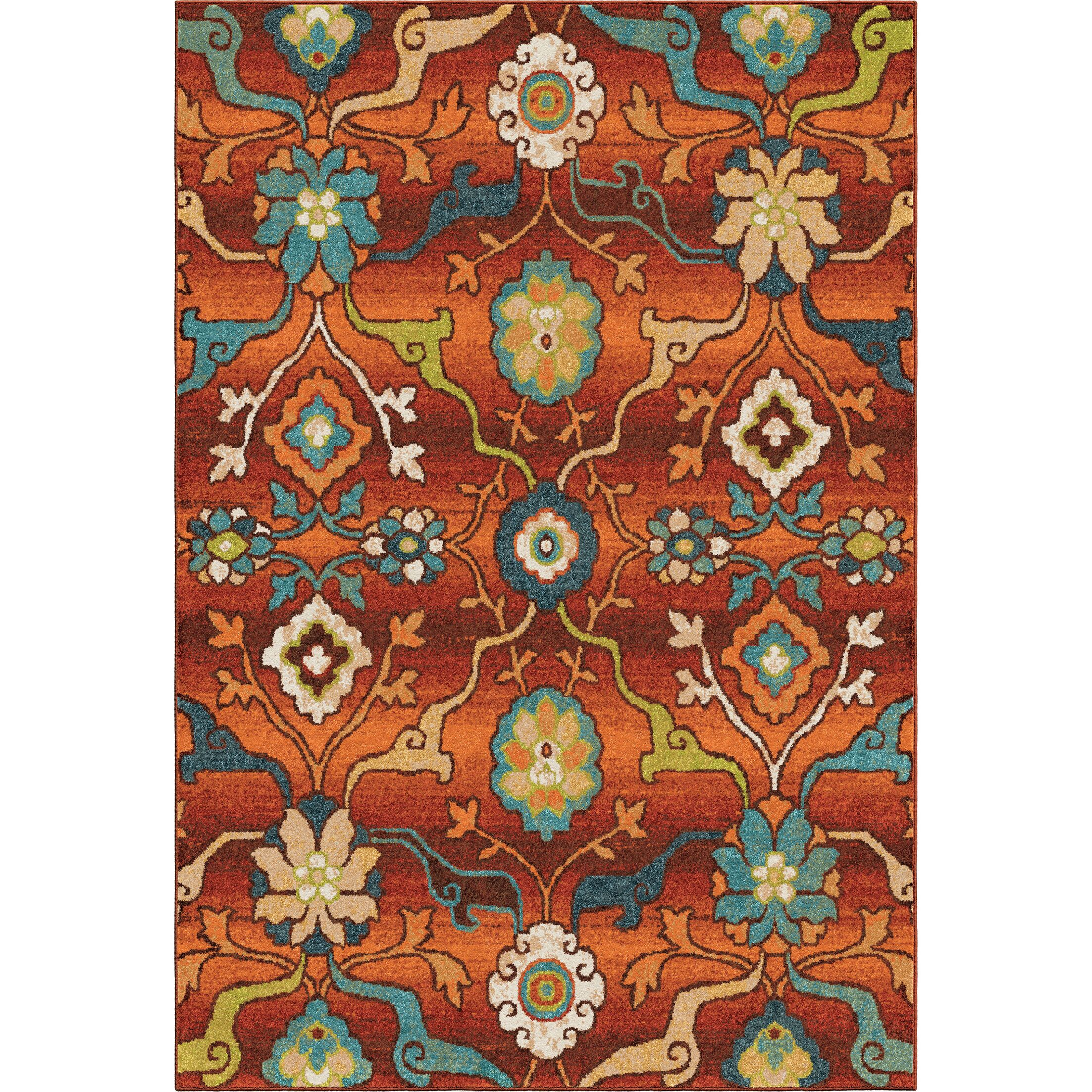 Ansonville Orange Area Rug Rug Size: 5'3