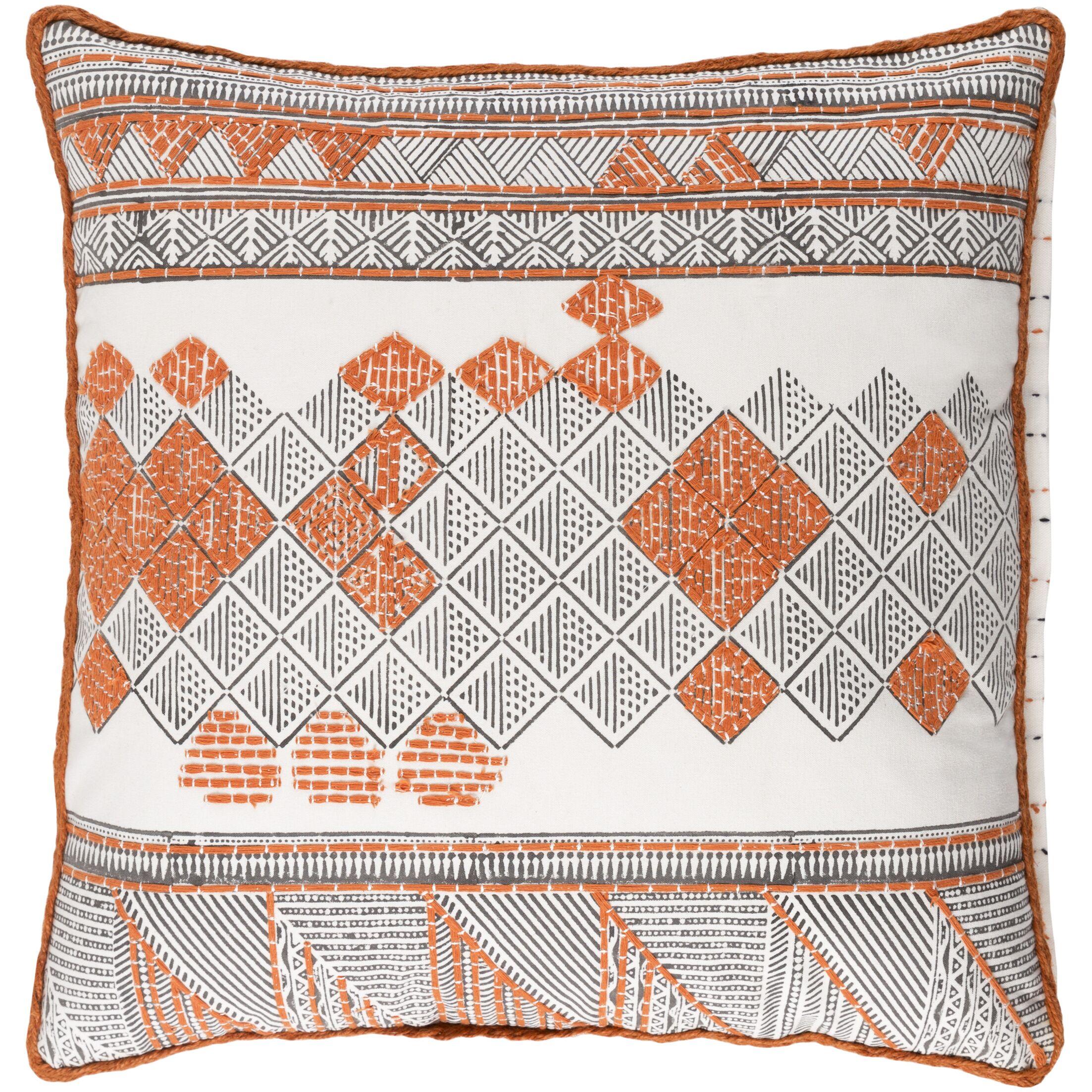 Ilyess Cotton Throw Pillow Size: 22