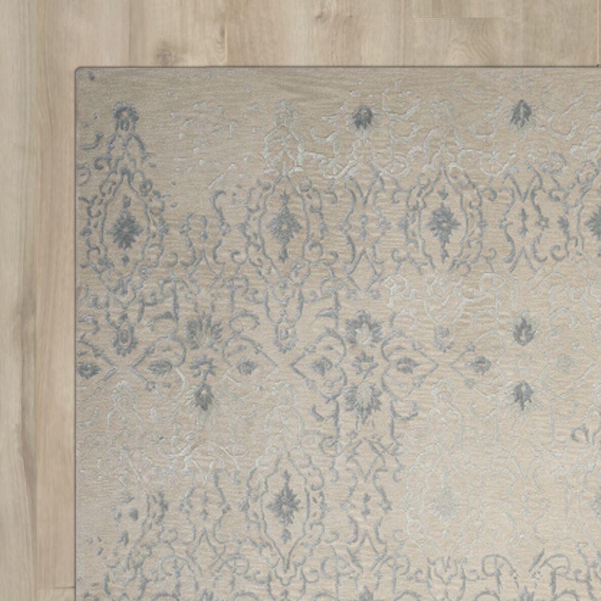 Hadley Machine Woven Wool Beige Area Rug Rug Size: Rectangle 9'9