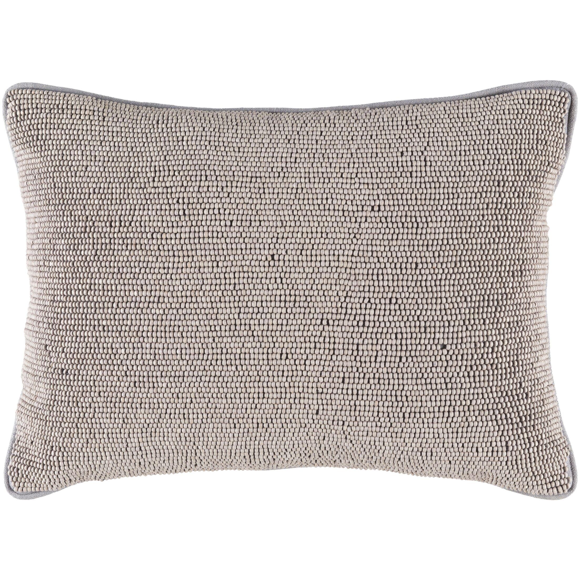 Attie 100% Cotton Lumbar Pillow Cover Color: Gray
