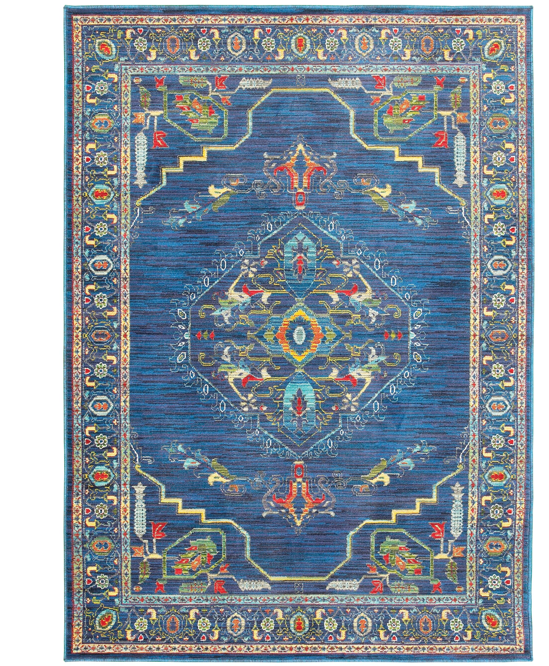 Saige Blue Area Rug Rug Size: Rectangle 5'3
