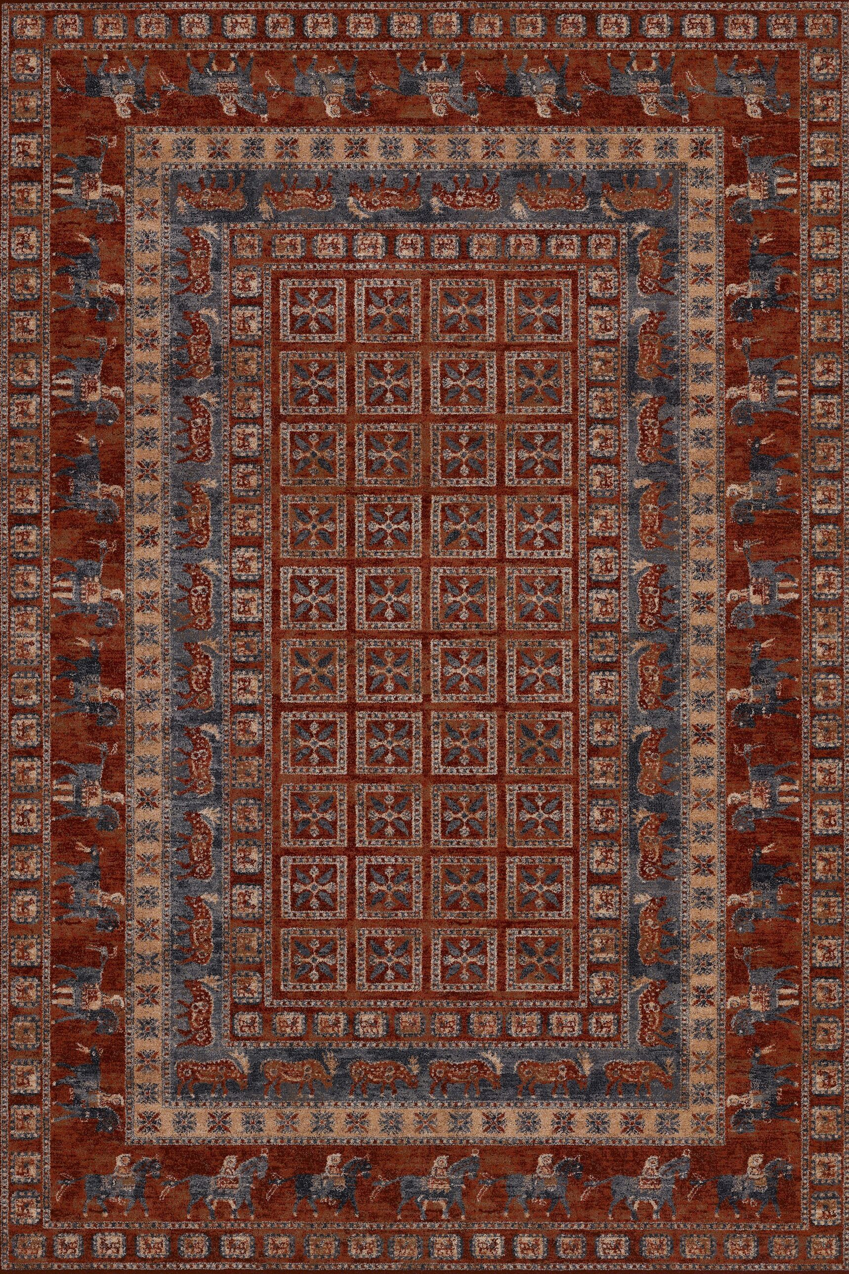 Faska Antique Red Area Rug Rug Size: Rectangle 4'6