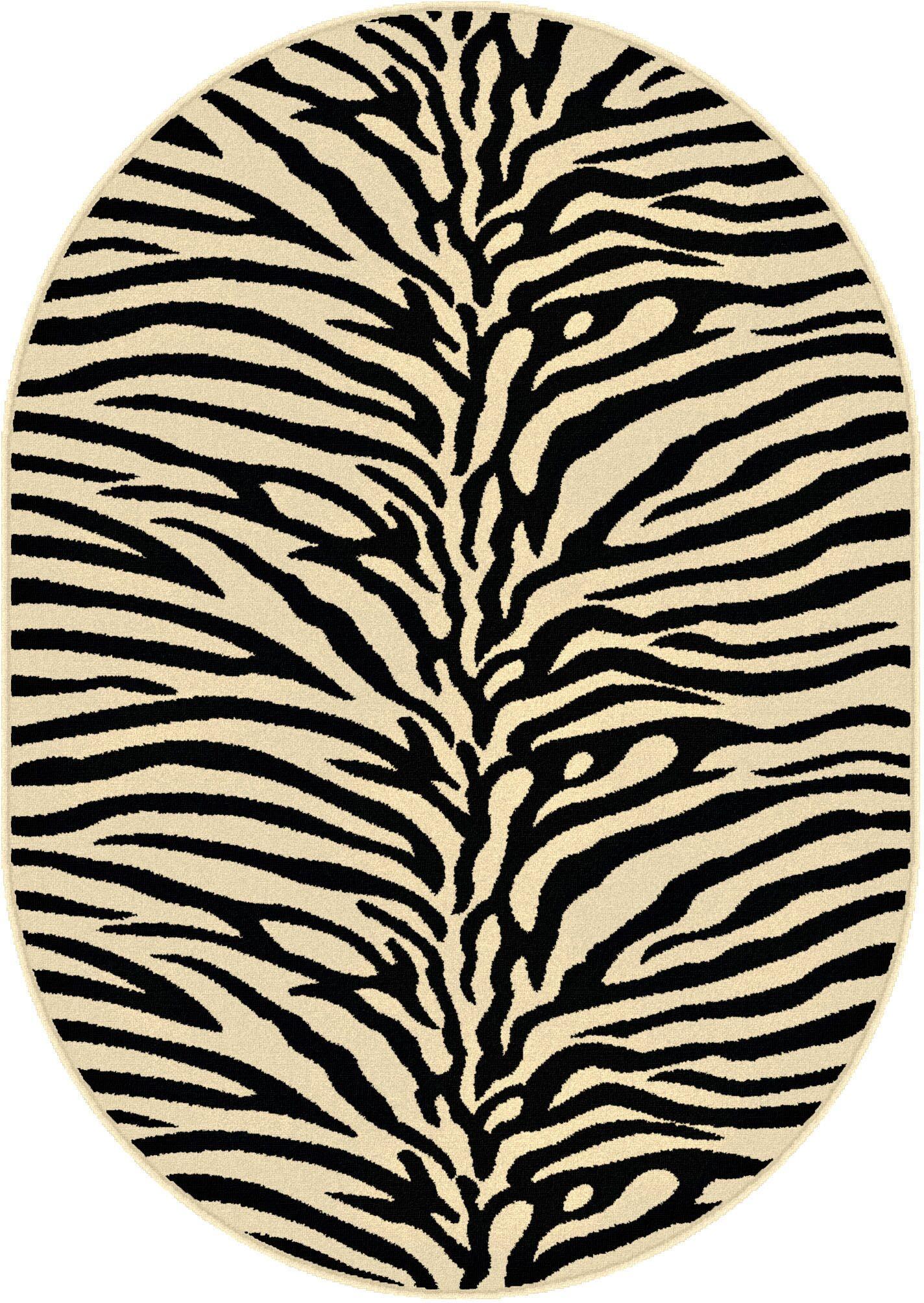 Pembroke Pines Beige Animal Oval Area Rug Rug Size: 6'7'' x 9'6'' Oval