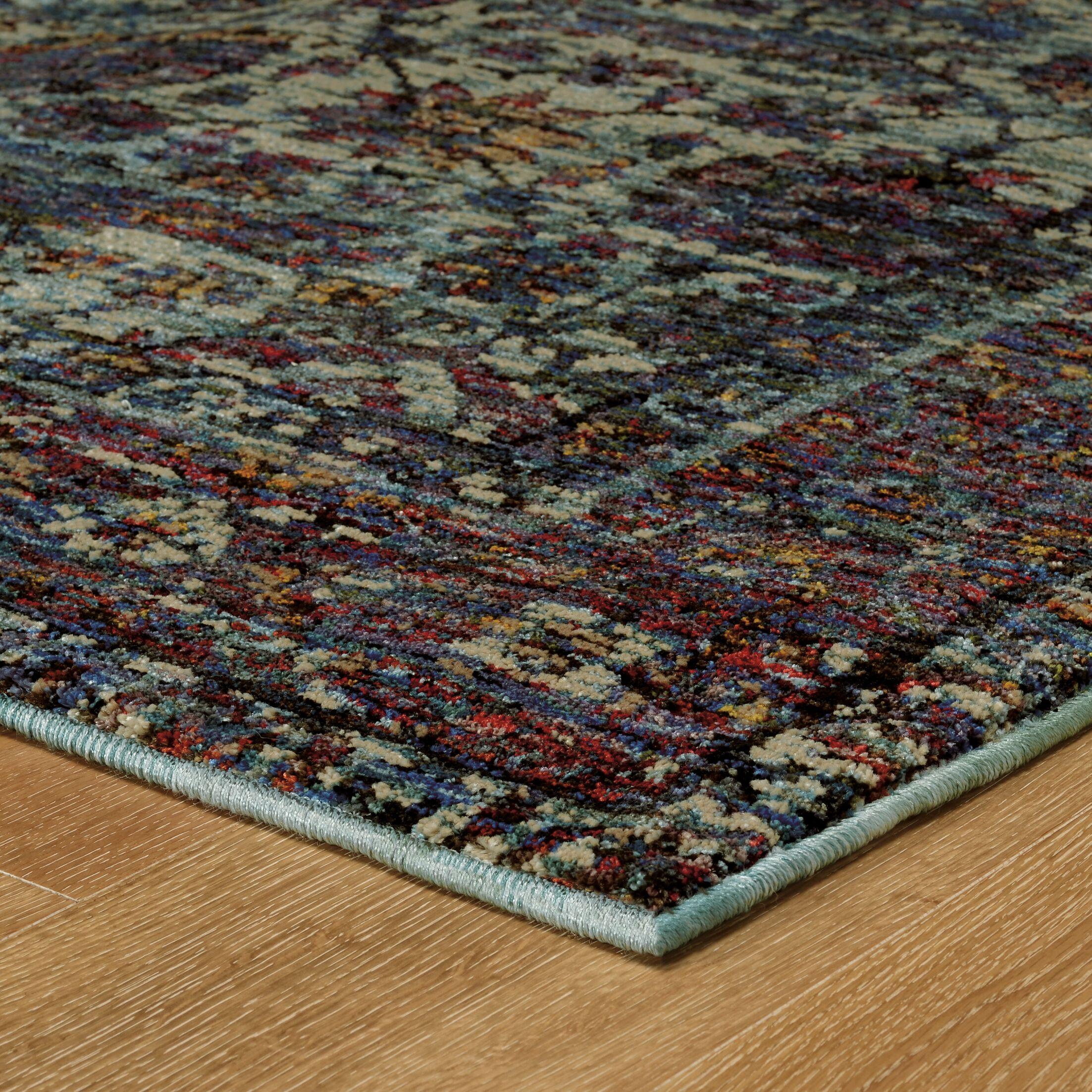 Rosalia Overdyed Blue/Purple Area Rug Rug Size: Rectangle 8'6