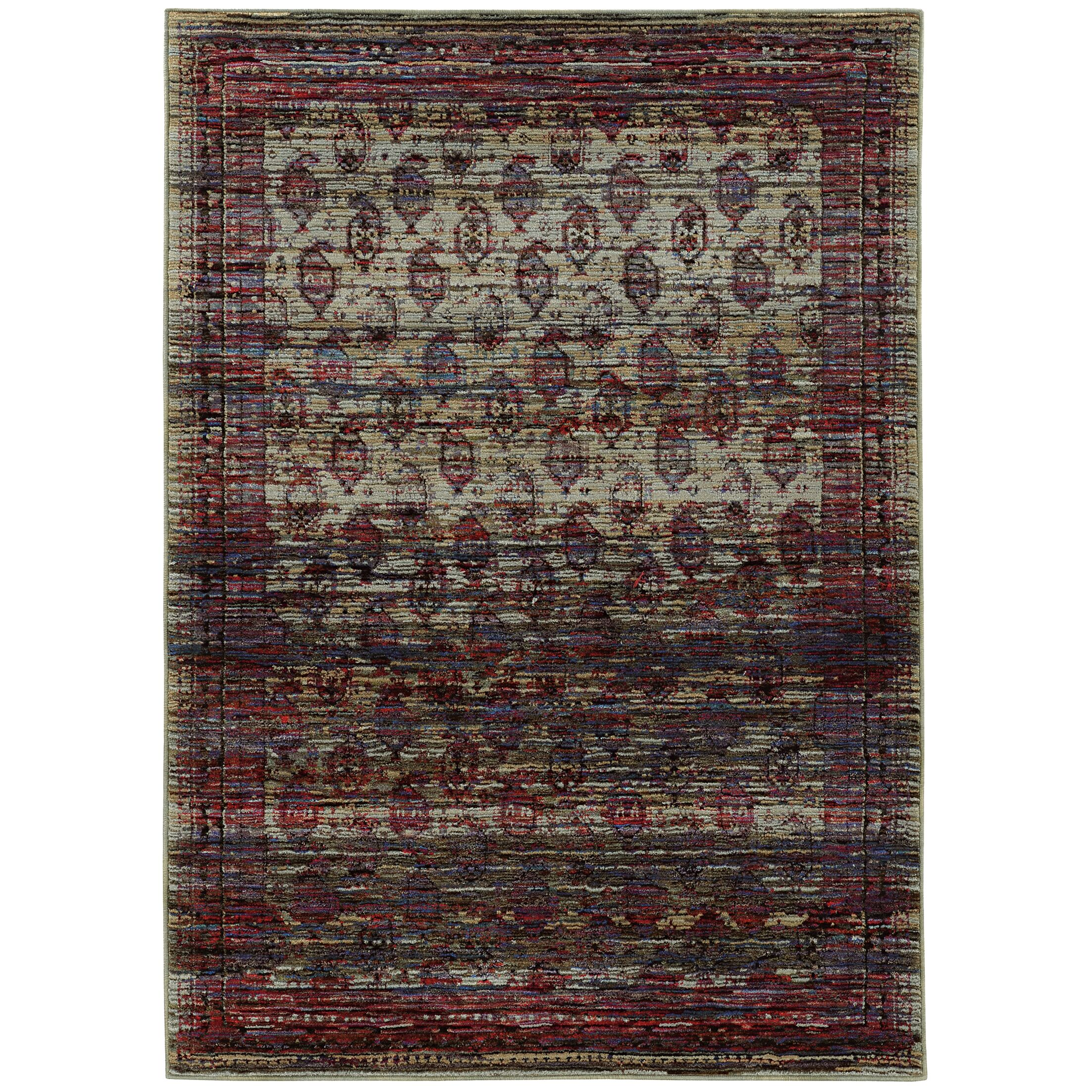 Rosalia Distressed Red Area Rug Rug Size: Rectangle 8'6