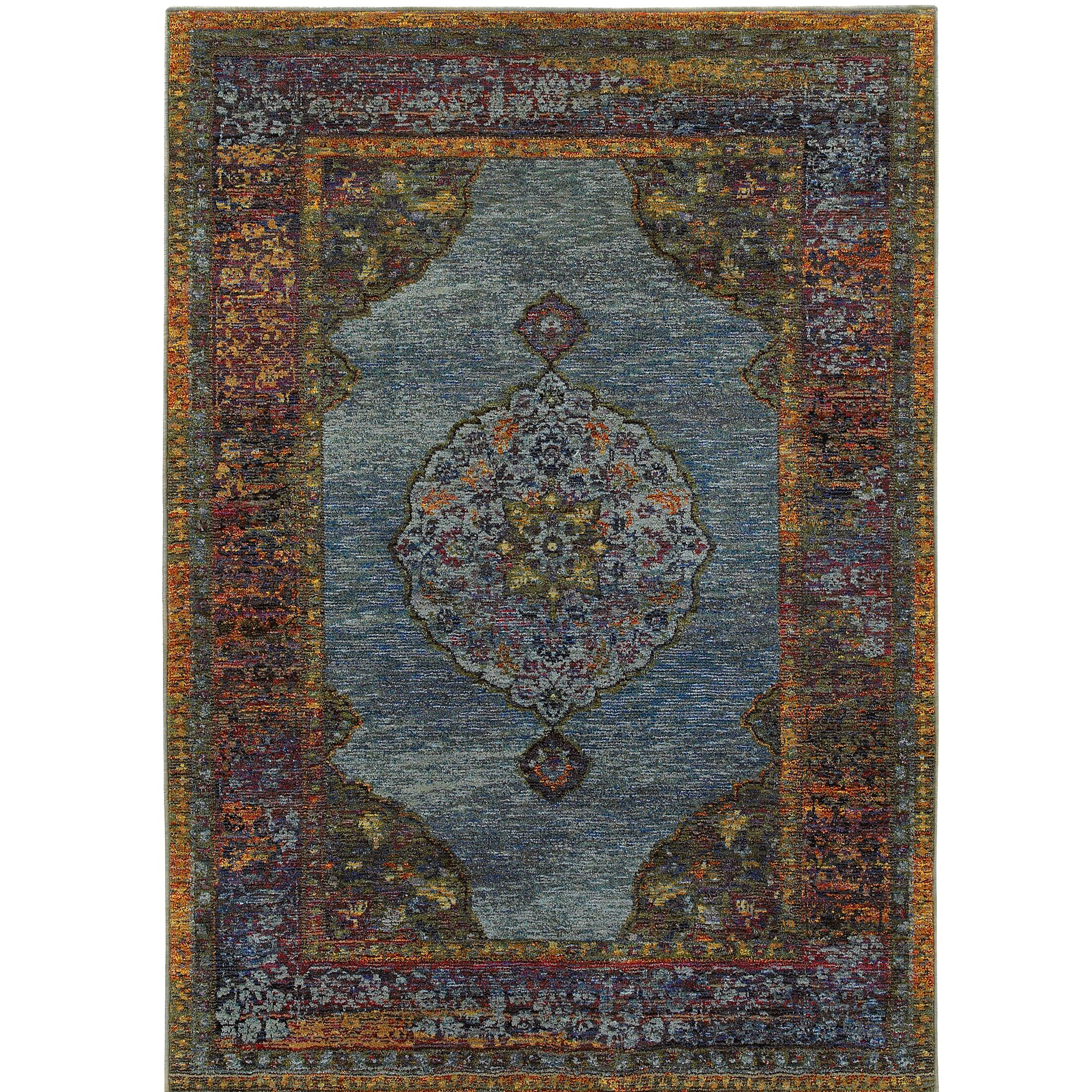 Rosalia Oriental Blue Area Rug Rug Size: Rectangle 8'6
