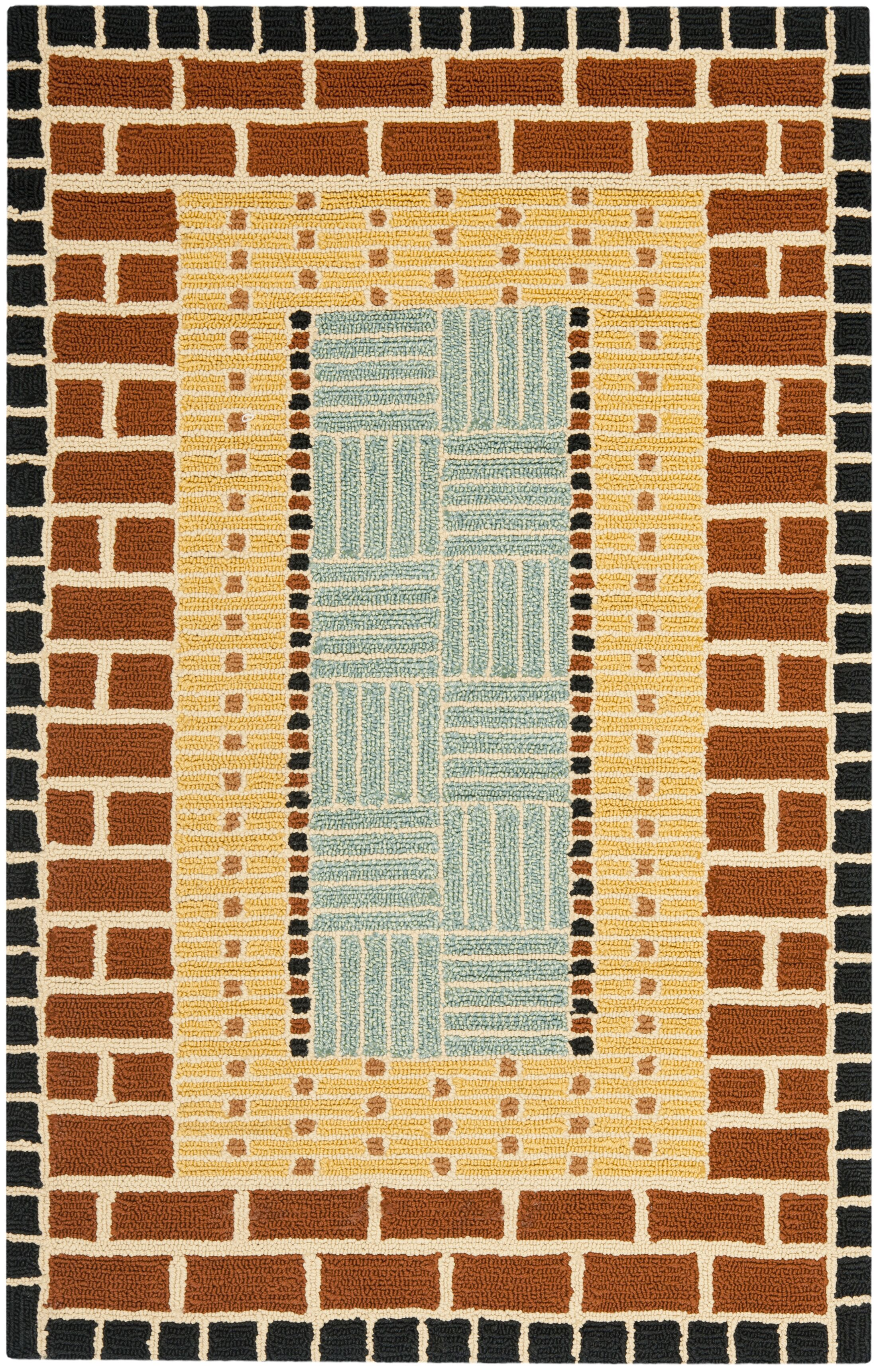 George Brown/Blue Outdoor Area Rug Rug Size: Rectangle 3'6